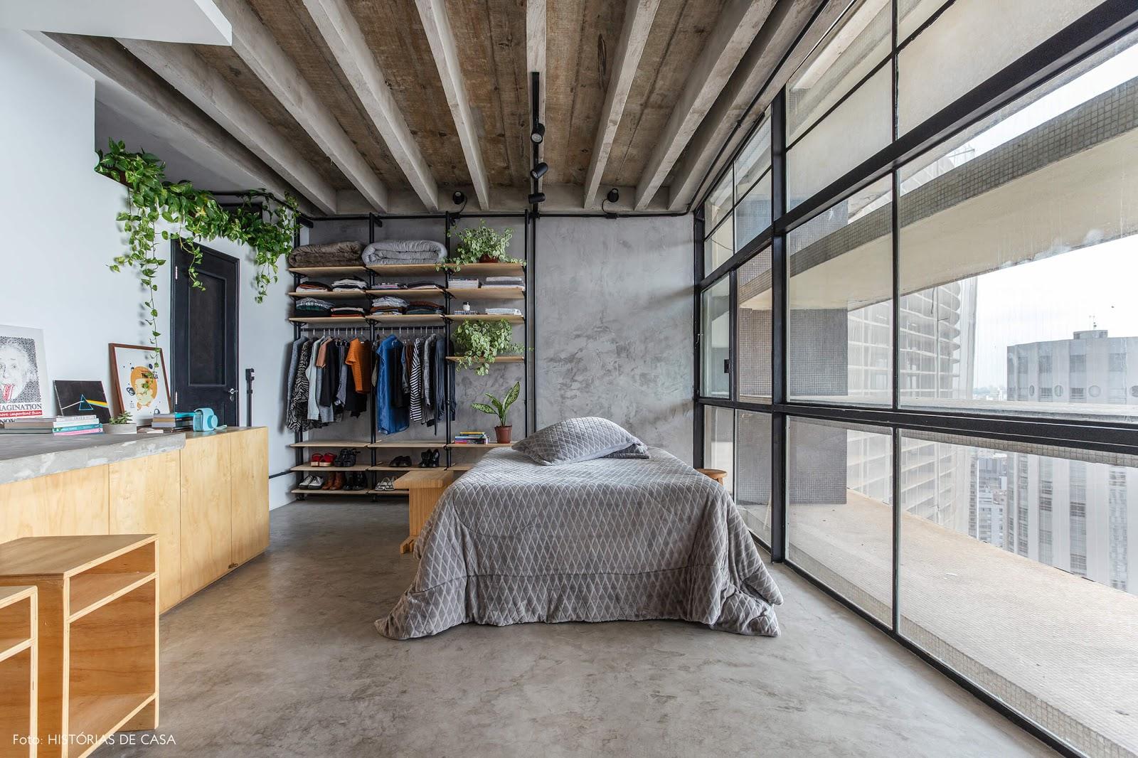 apartamento pequeno quarto integrado
