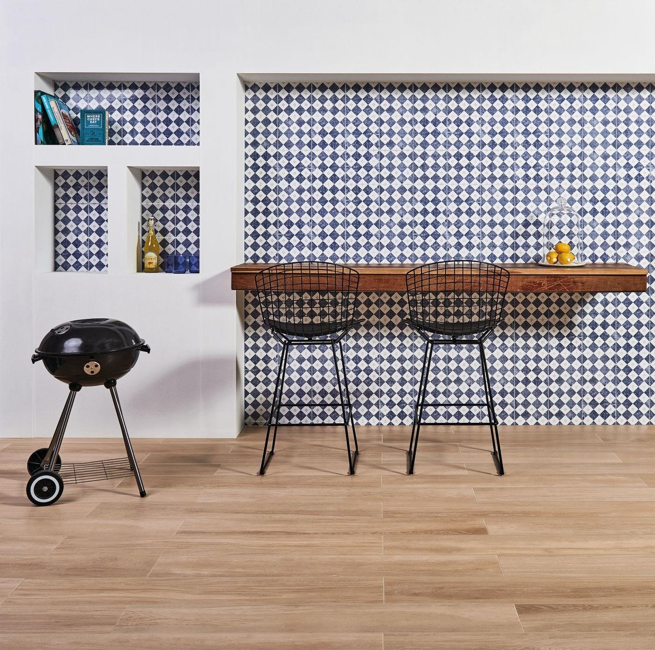 cozinha copa porcelanato madeira