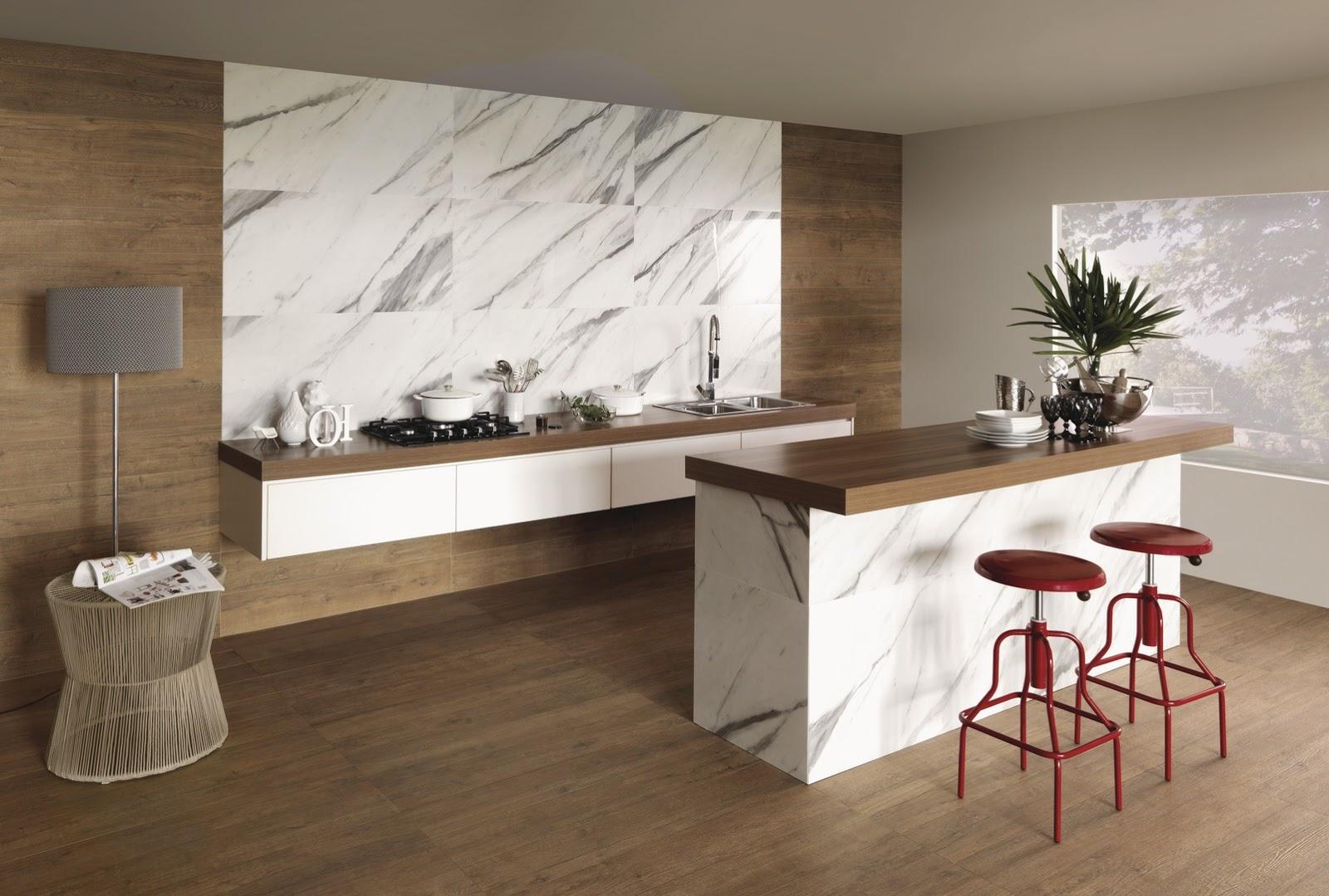 cozinha porcelanato mármore