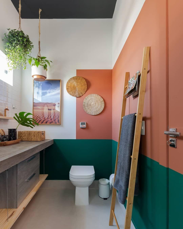 banheiro colorido