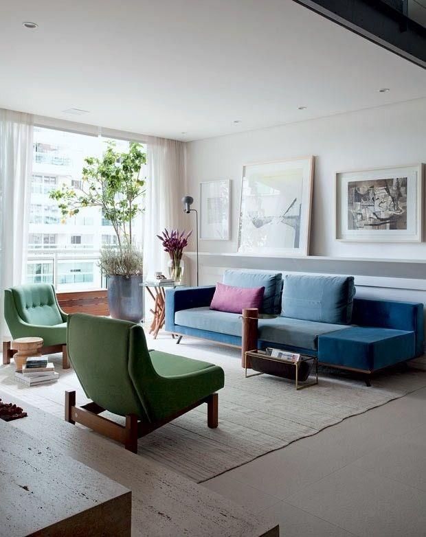 sala sofá colorido