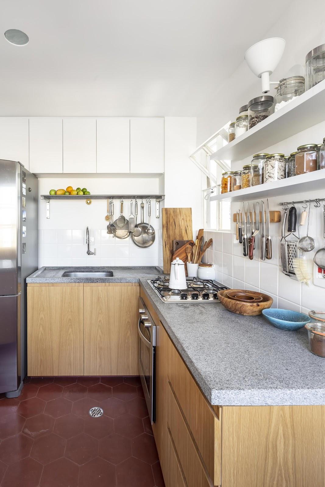 cozinha piso revestimento hexagonal vermelho