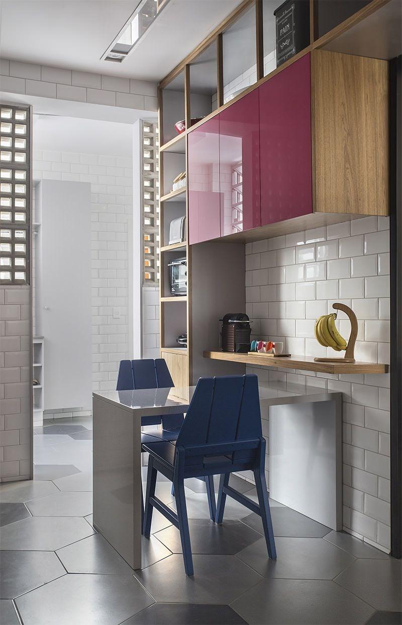 cozinha piso revestimento hexagonal cinza