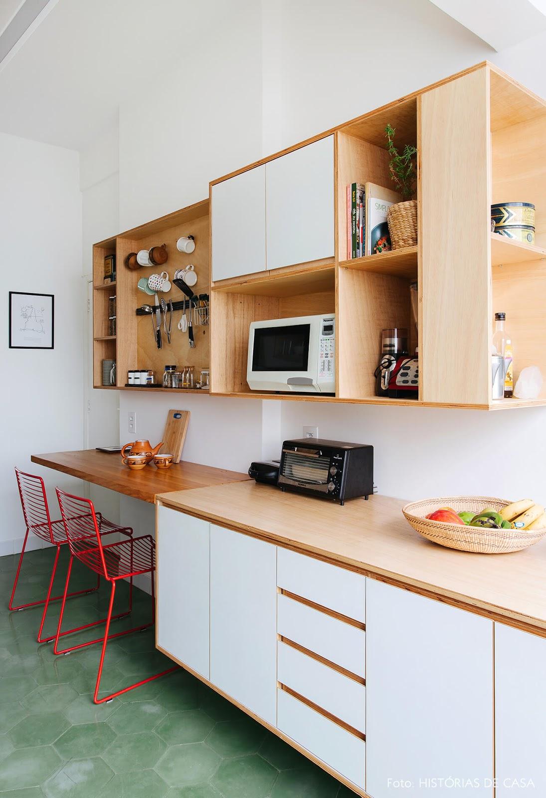 cozinha piso revestimento hexagonal verde