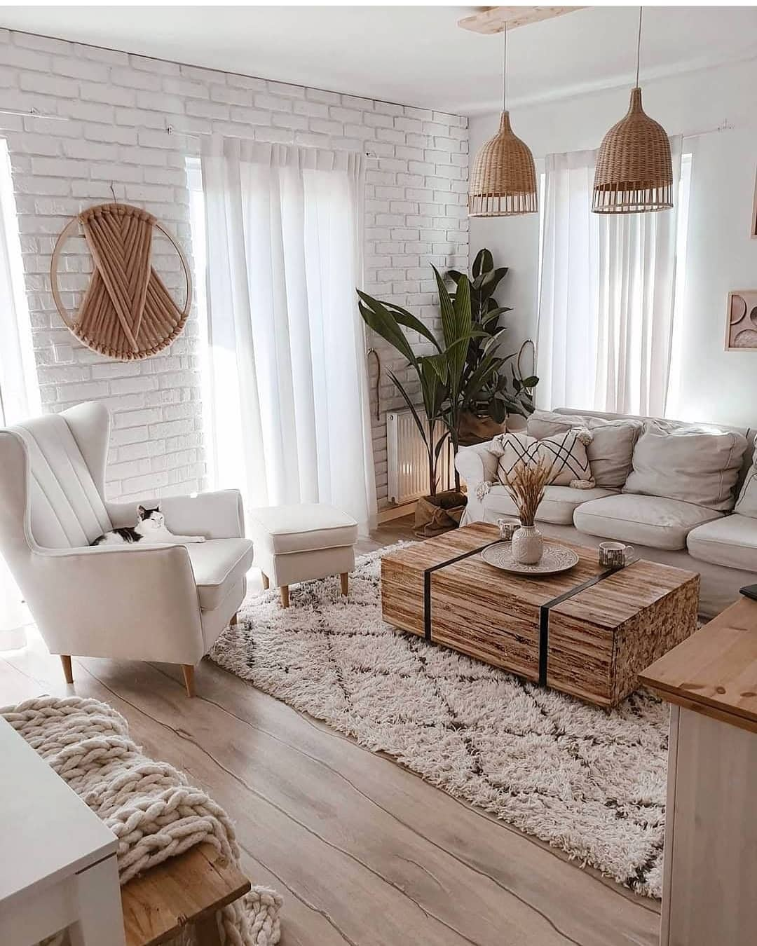 sala de estar cores claras