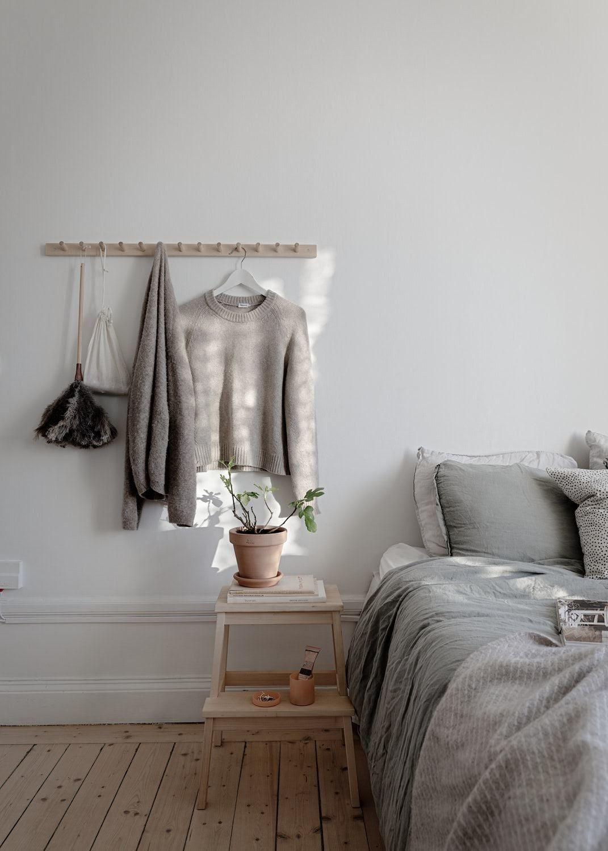 quarto casal cinza minimalista