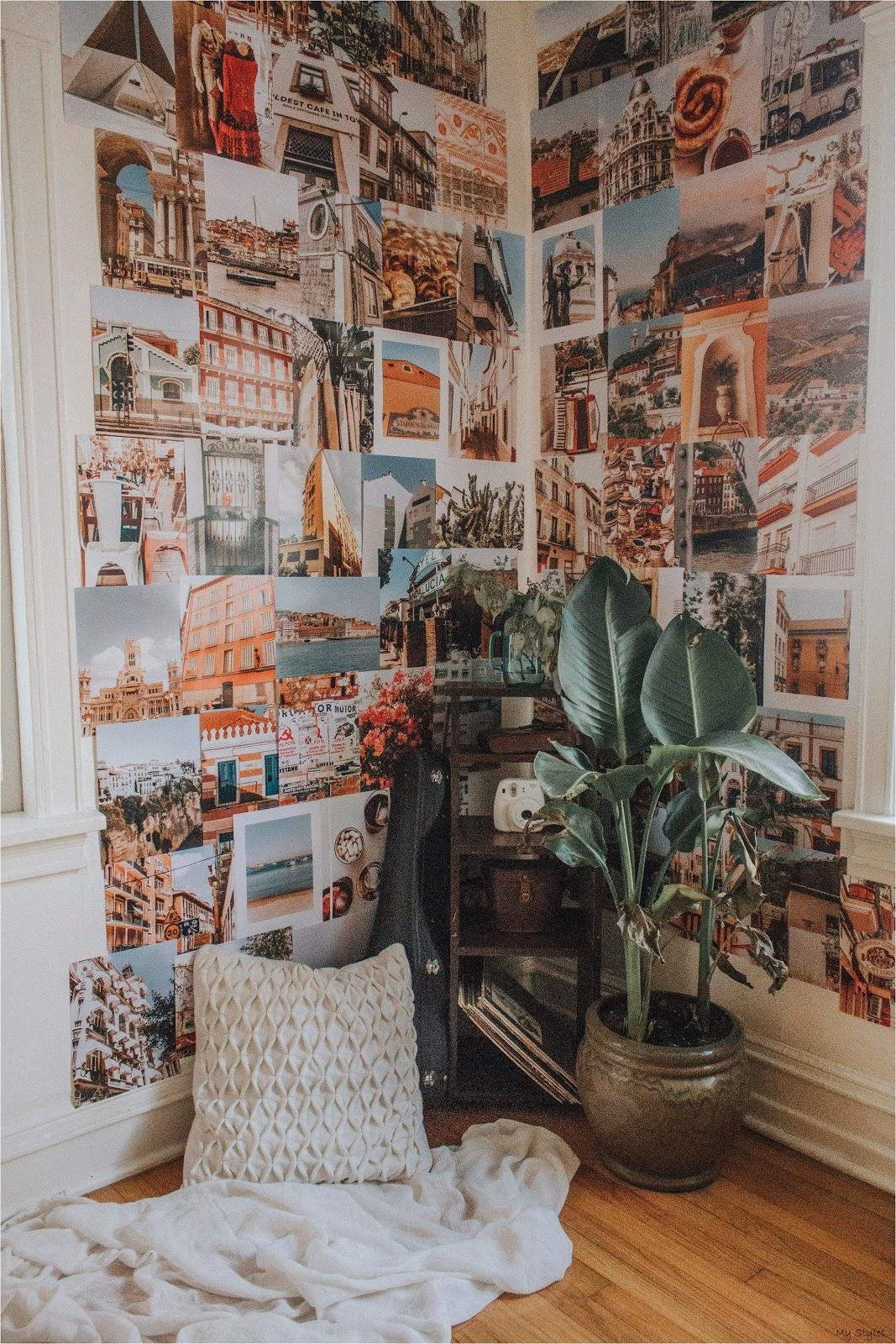 parede colagem com fotos