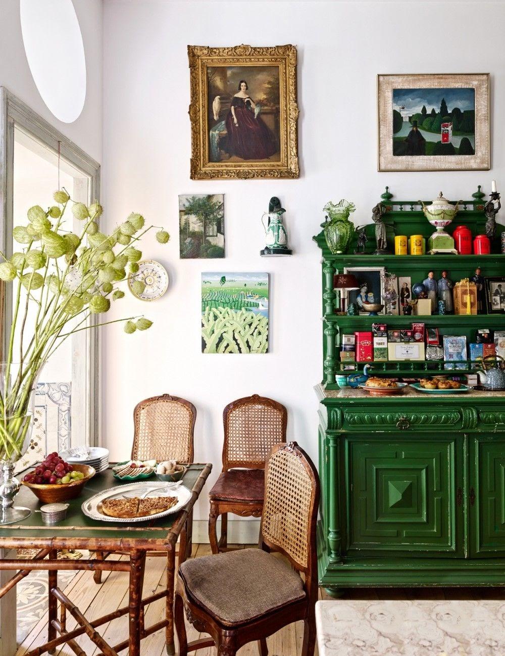 sala de jantar decoração vintage