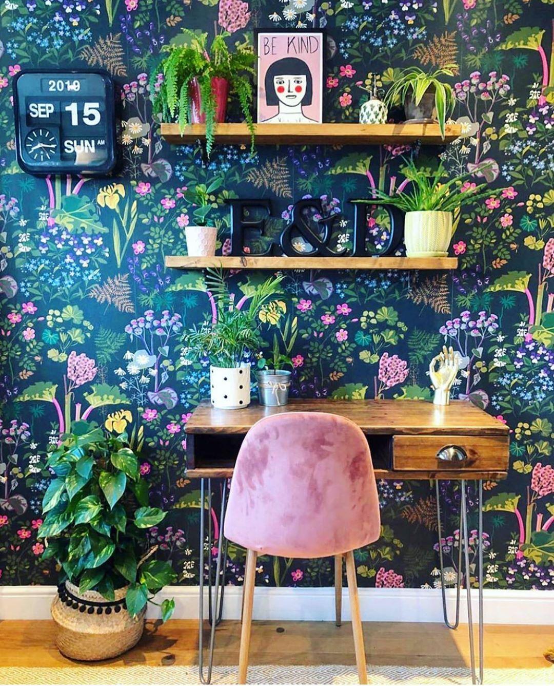 home office decoração vintage