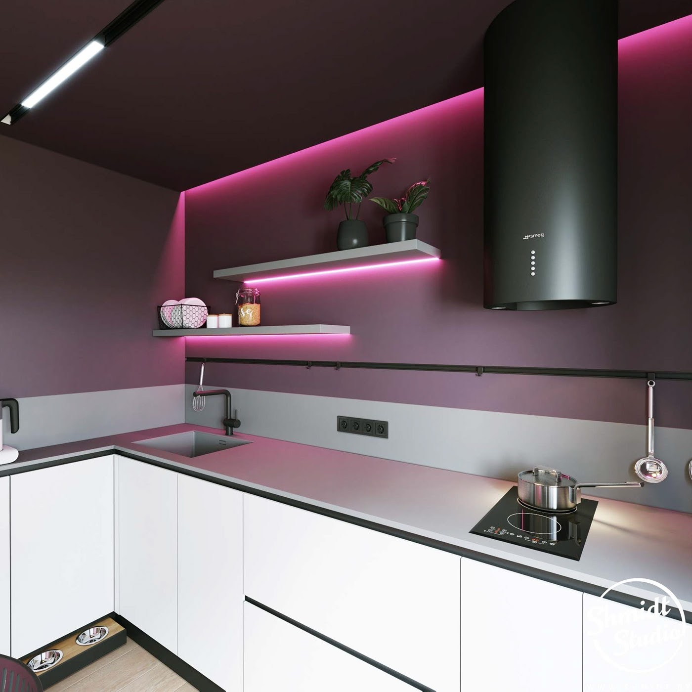 cozinha neon