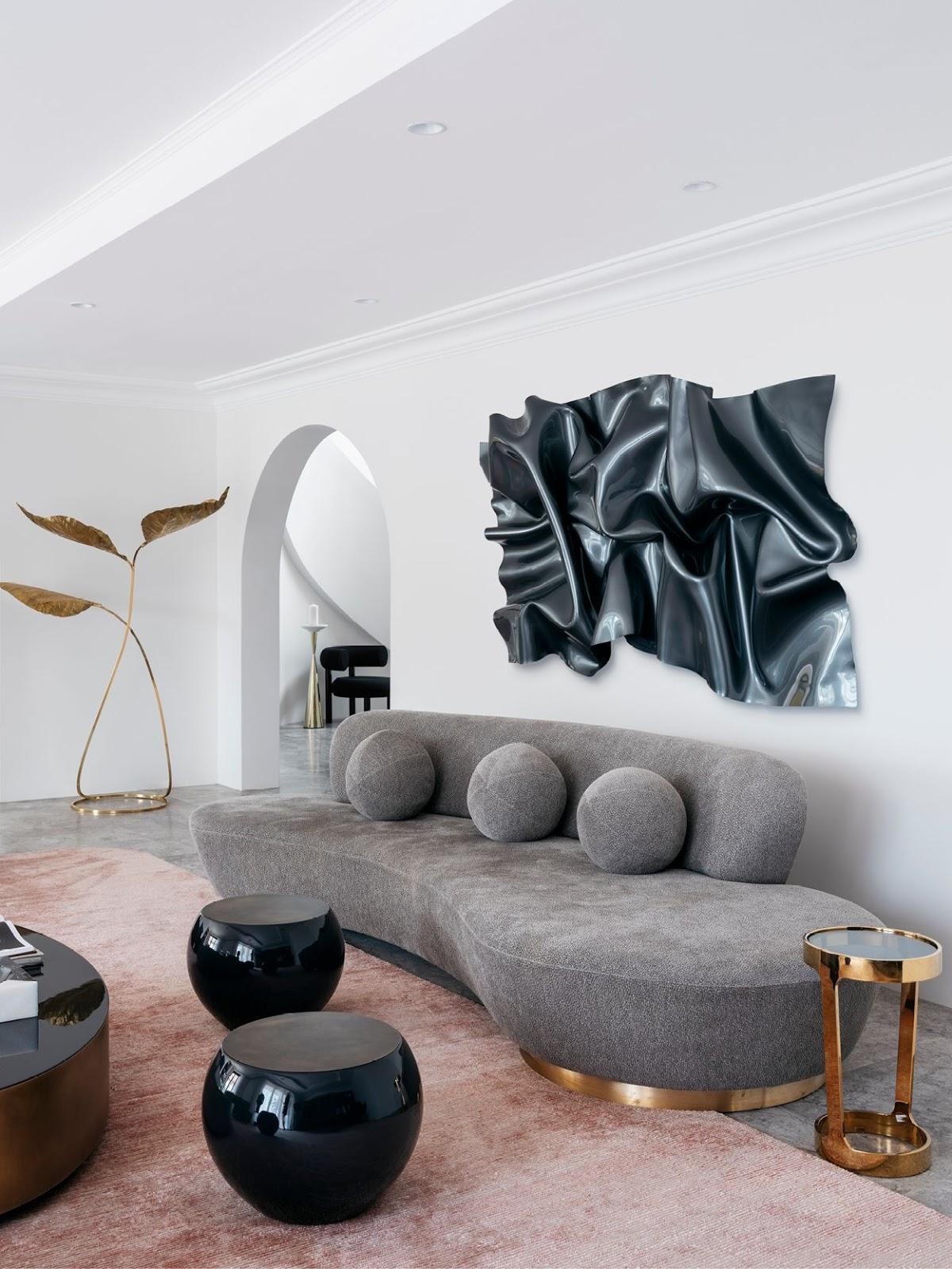 sofá curvo