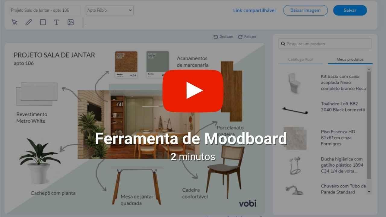 Ferramenta de Moodboard Vobi
