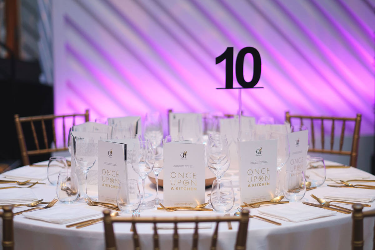table setting by Plan Design Events