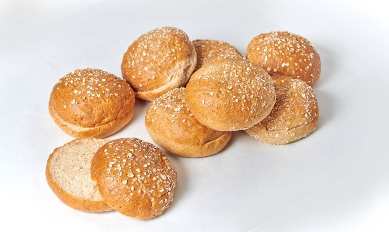 4 Wheat Hamburger Bun with Oats picture