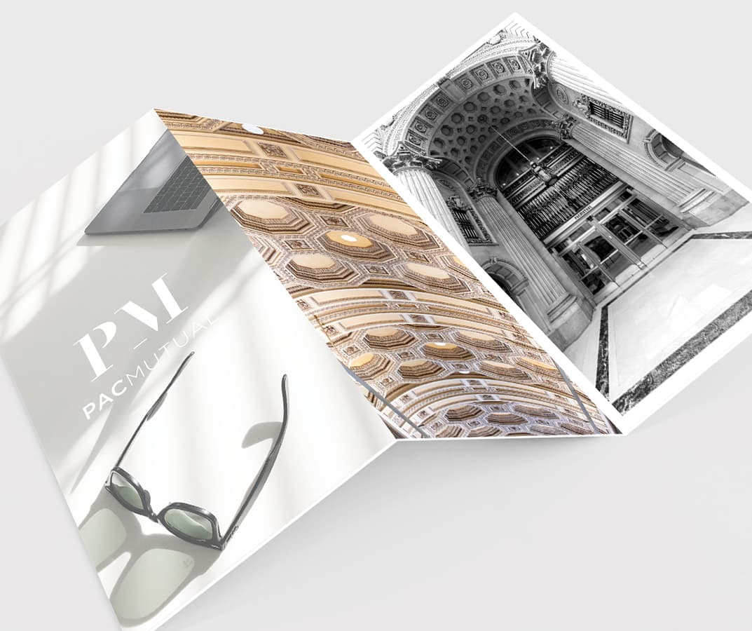 PacMutual Building, Los Angeles Branding Collateral and Mock-Ups