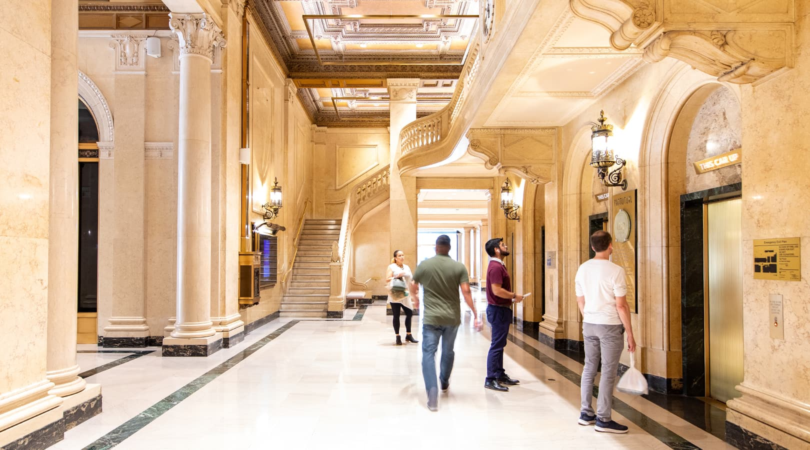 PacMutual Building, Los Angeles Historical Building Interior Pedestrian Wayfinding