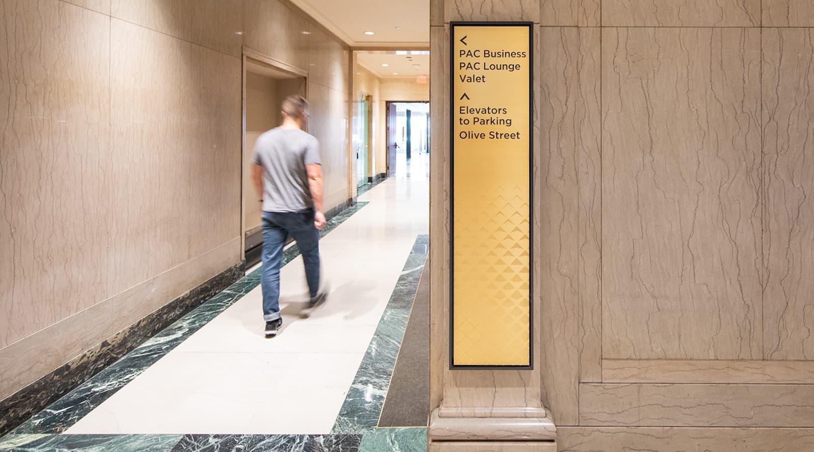 PacMutual Building, Los Angeles Interior Wayfinding Design
