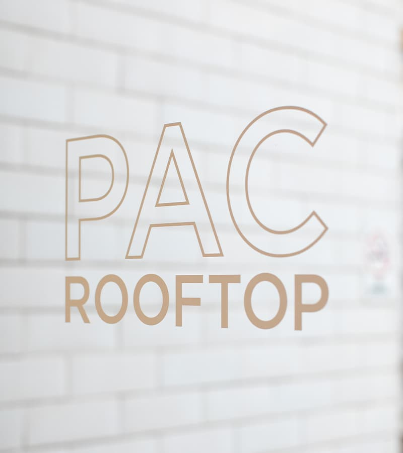 PacMutual Building, Los Angeles Branded Glass Identity