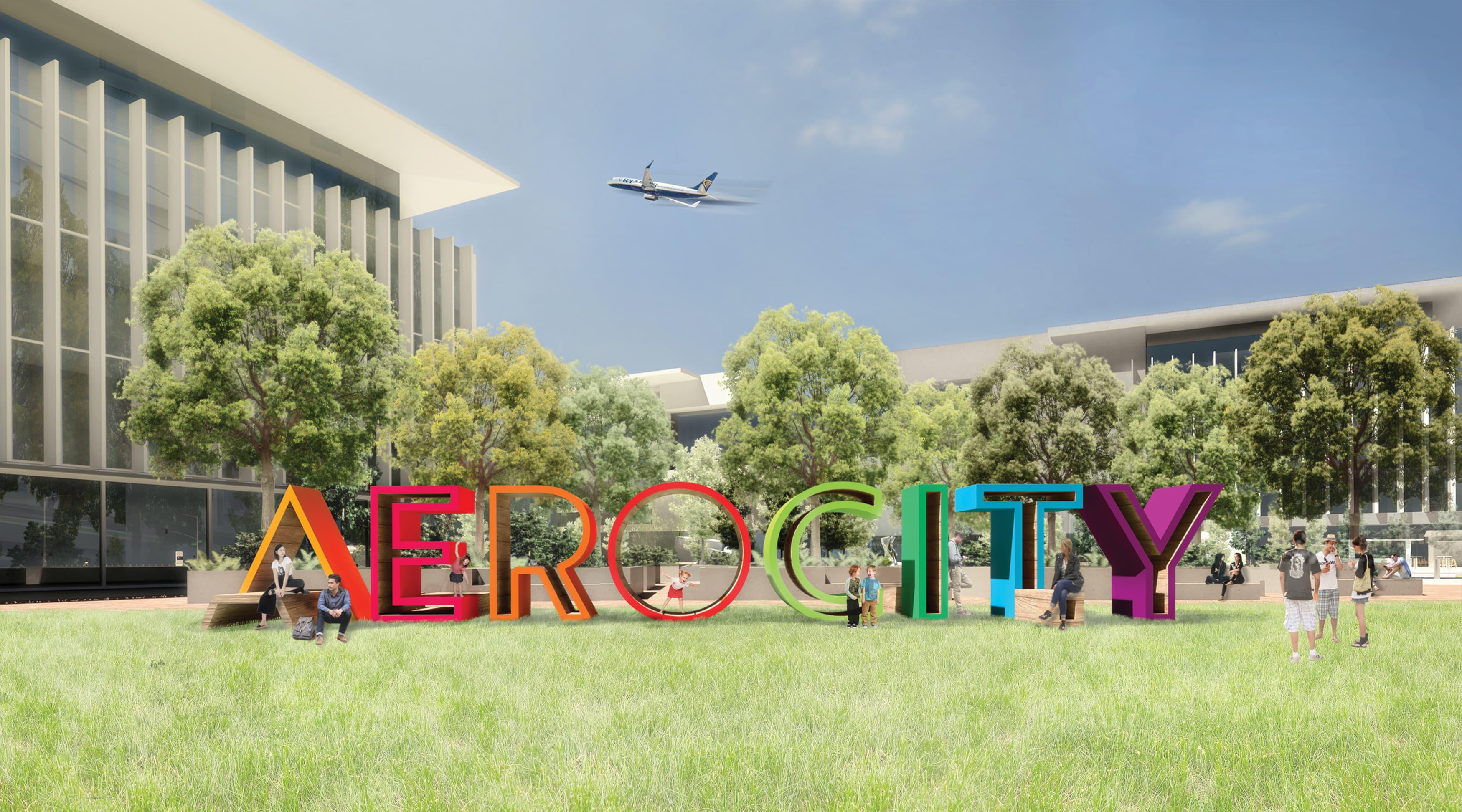 Aerocity, New Dehli, India, interactive branded project identity monument