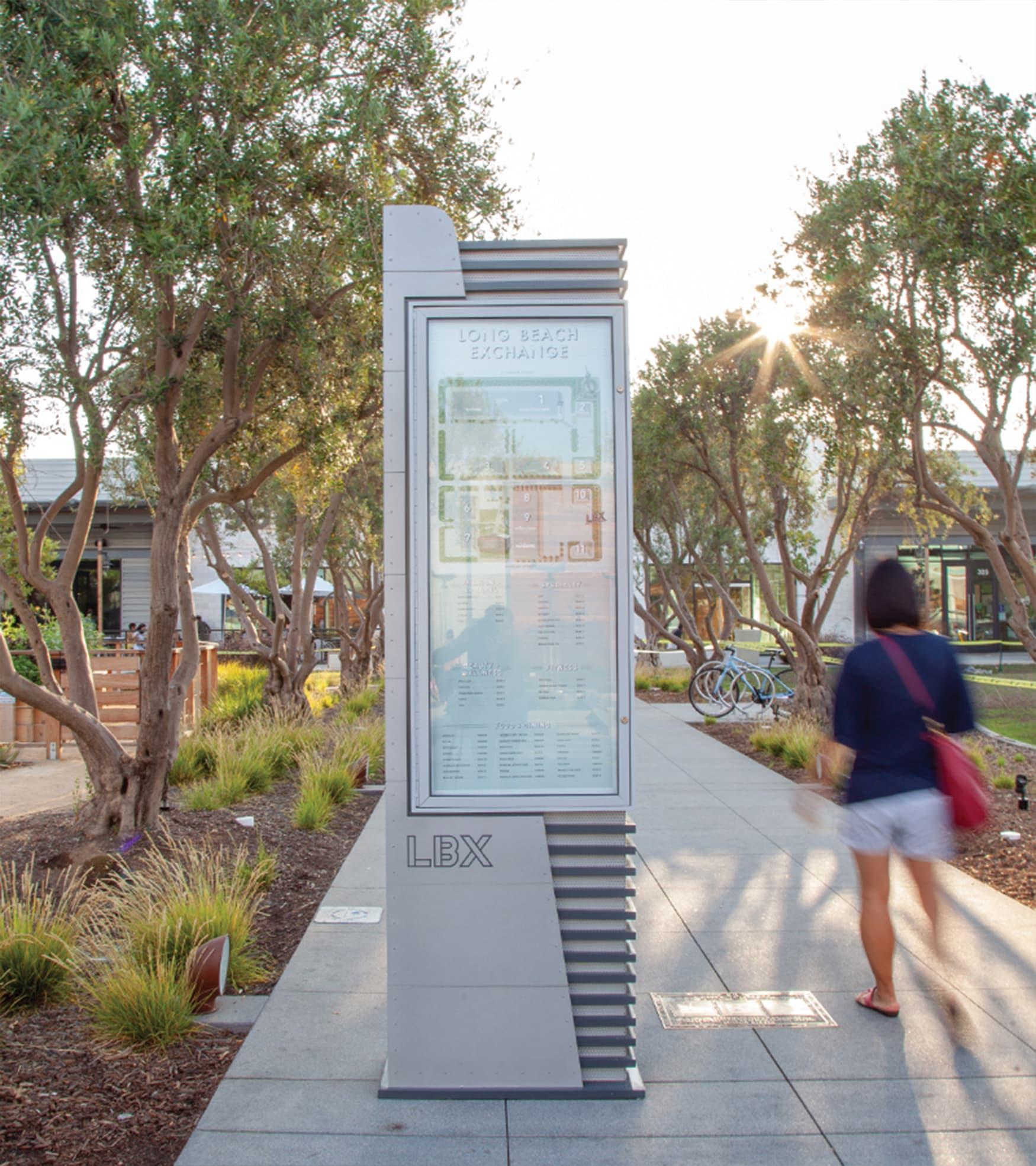 Long Beach Exchange Retail Design Project Pedestrian Wayfinding Design and Directory Map