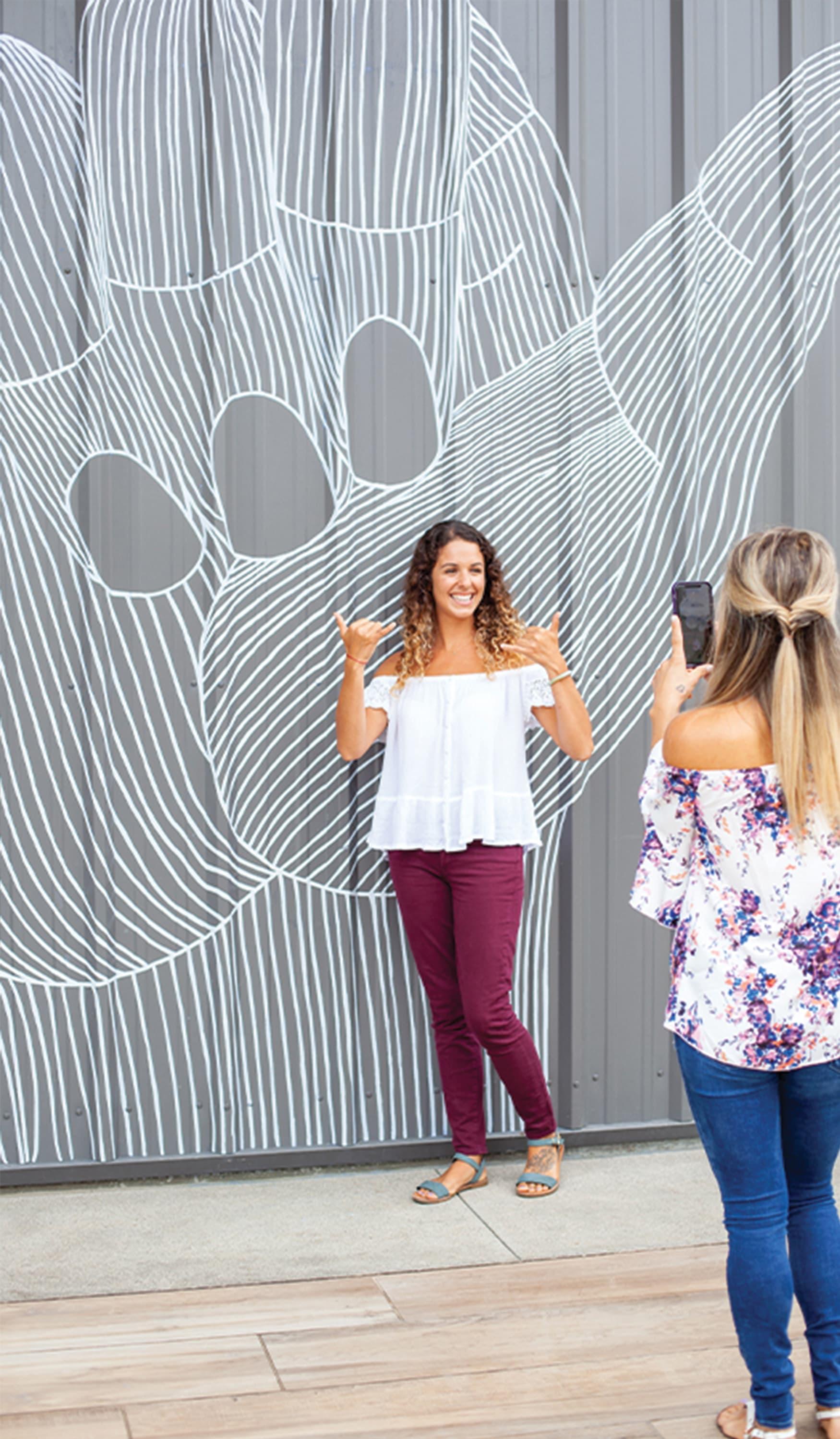 Long Beach Exchange Retail Design Project Interactive Mural Design and Street Art