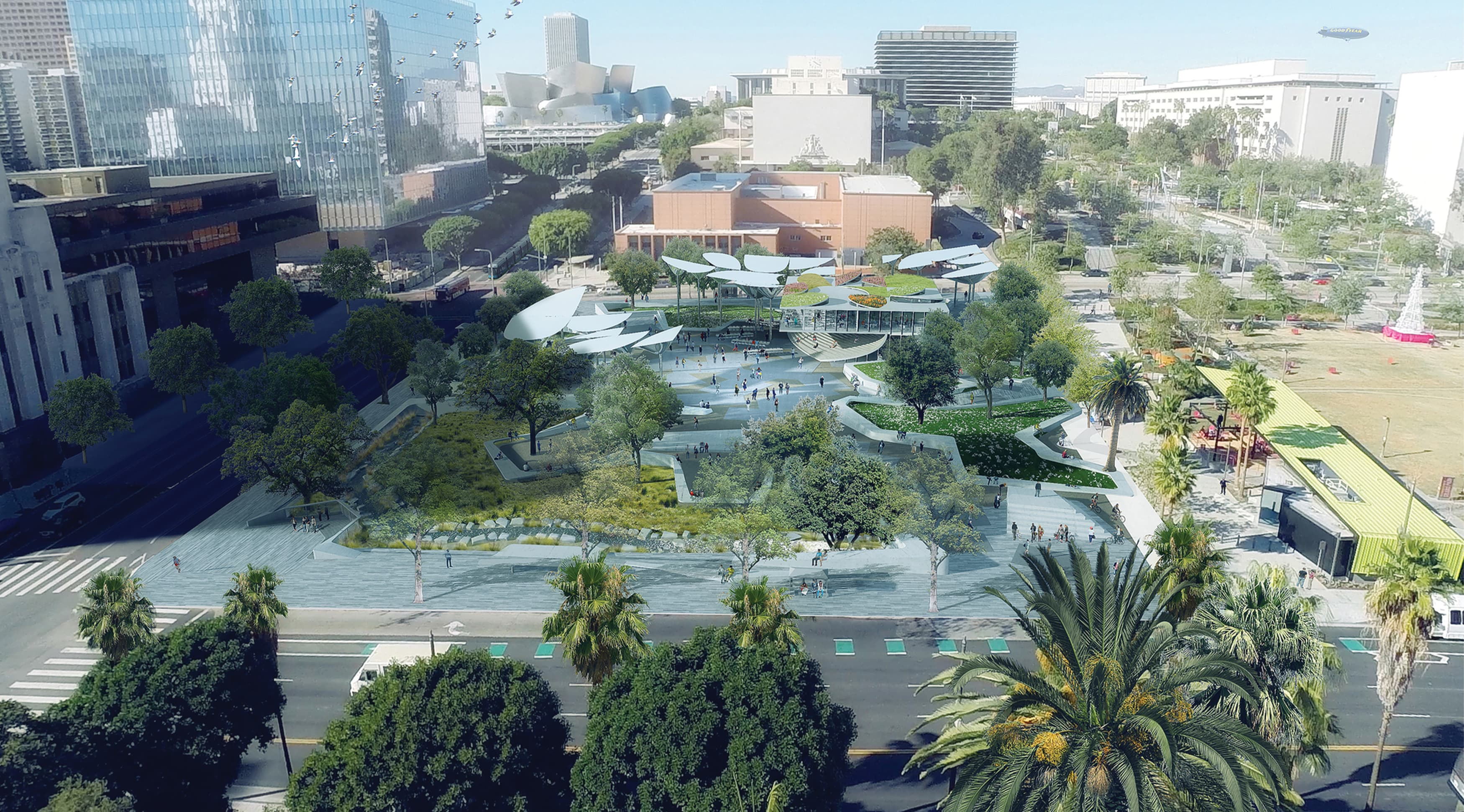 First and Broadway Park, located in Los Angeles, California, is a civic center and city park.