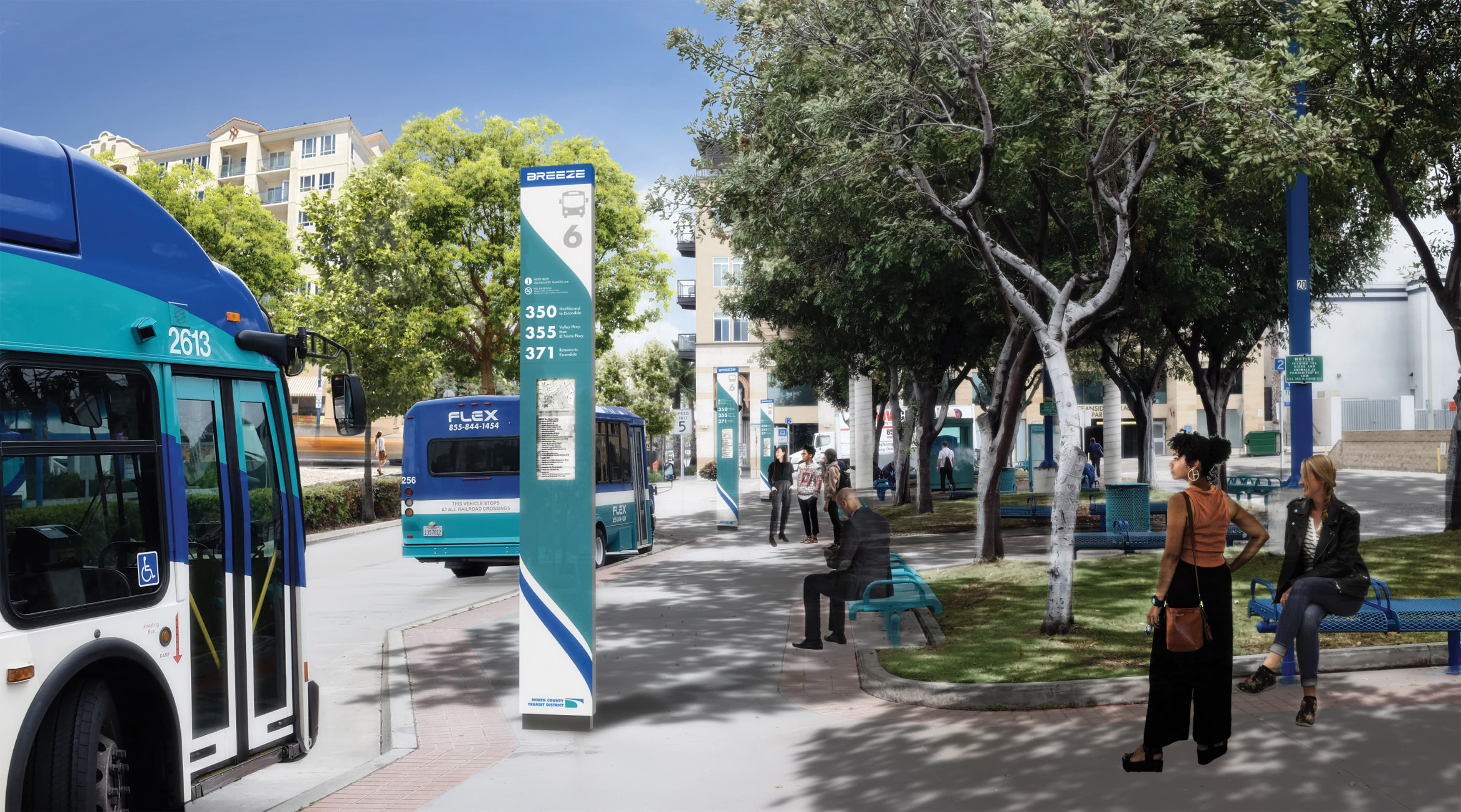 North County Transit District, the transit system in northern San Diego, California, worked with RSM Design to re-think what their transit system looks like. Wayfinding design and vehicular wayfinding.
