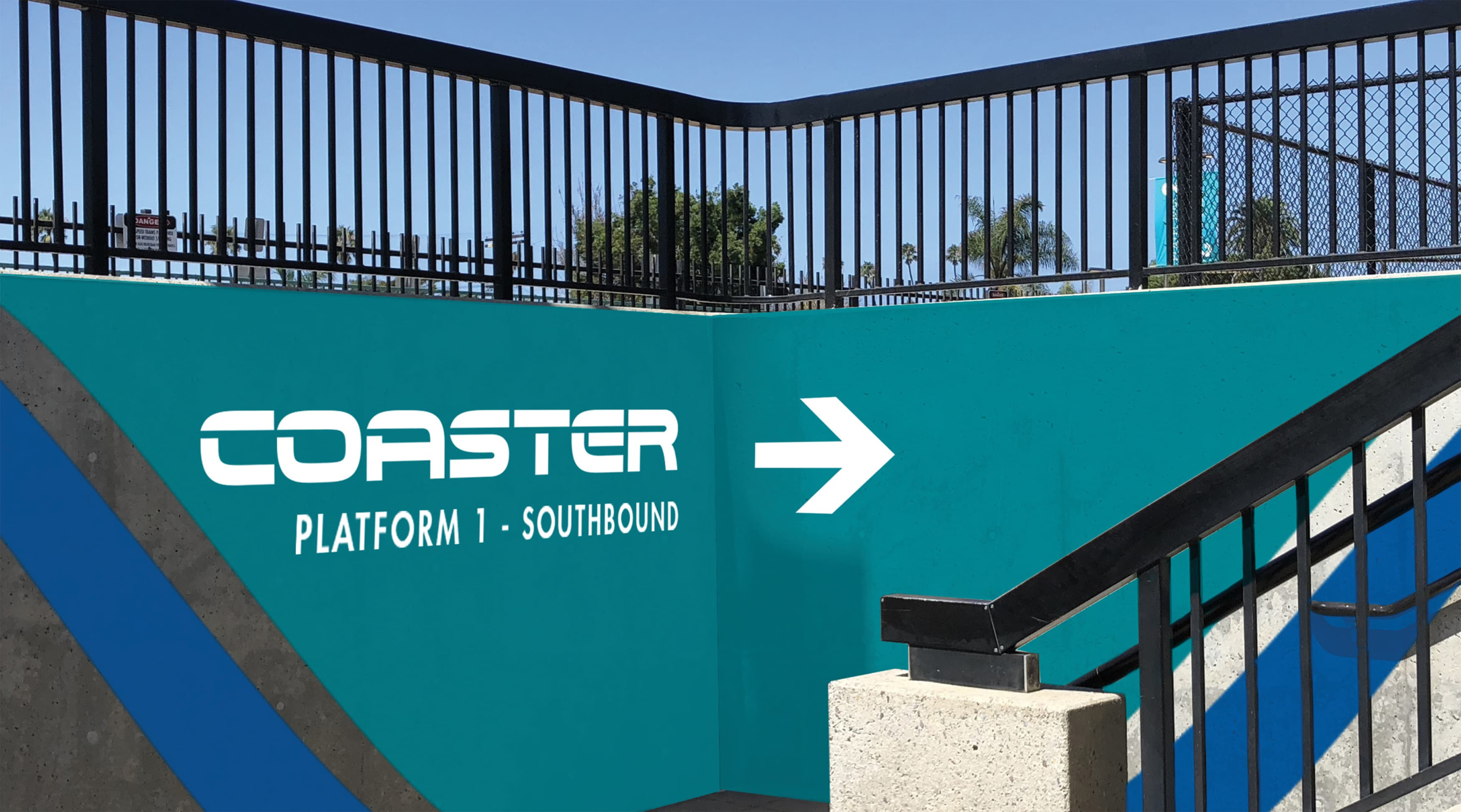 North County Transit District, the transit system in northern San Diego, California, worked with RSM Design to re-think what their transit system looks like. Graphic wayfinding design.