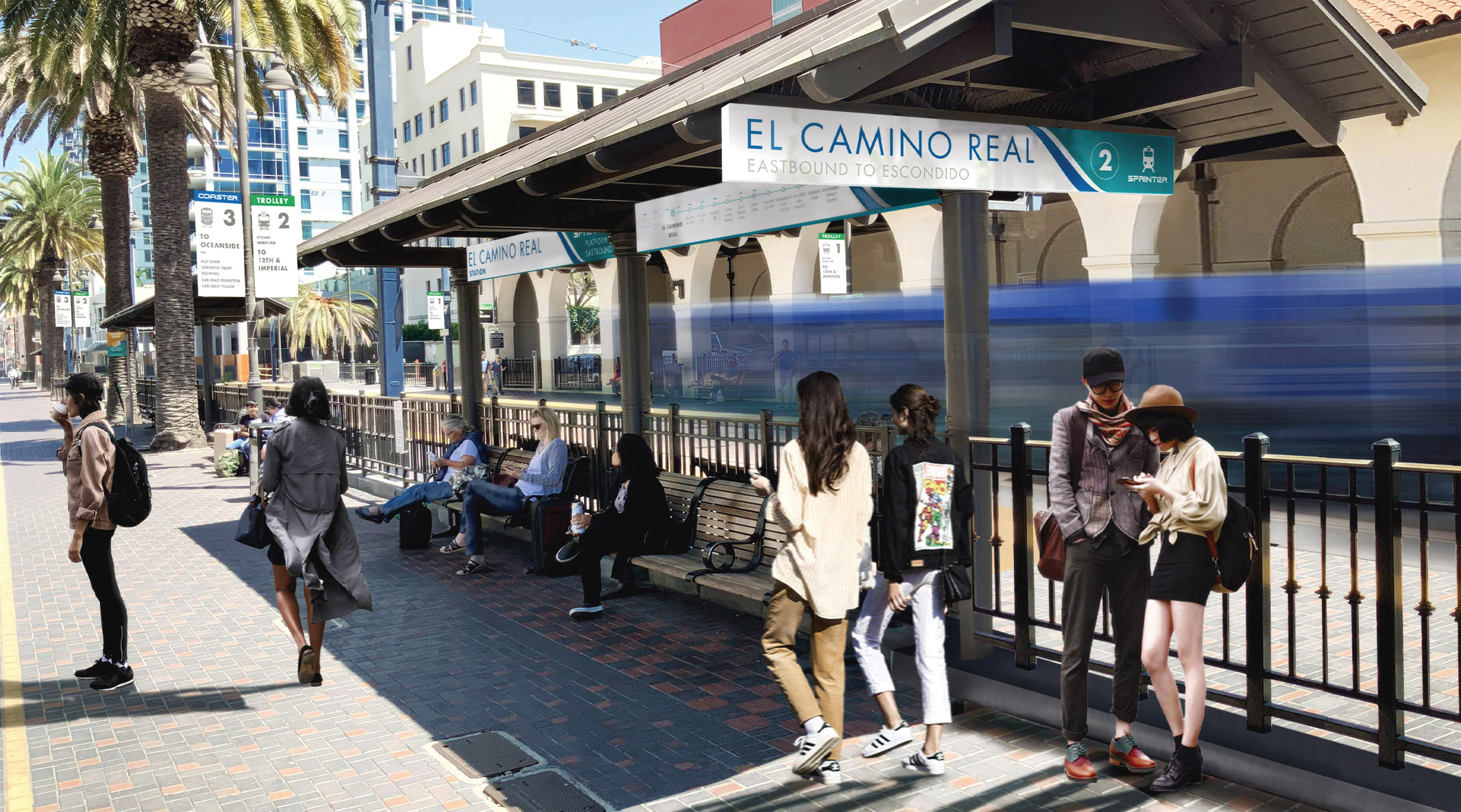 North County Transit District, the transit system in northern San Diego, California, worked with RSM Design to re-think what their transit system looks like. Transit identity design