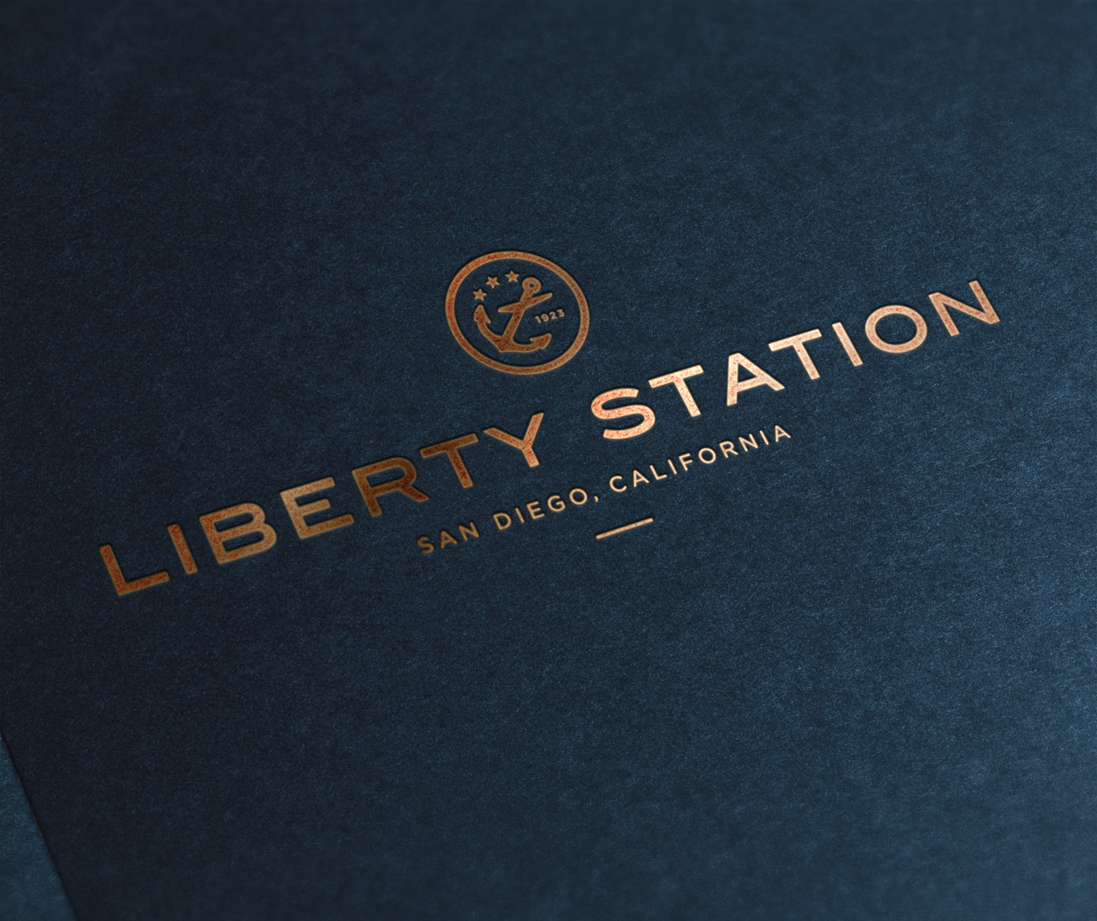 Liberty Station, San Diego, mixed-use project branding collateral