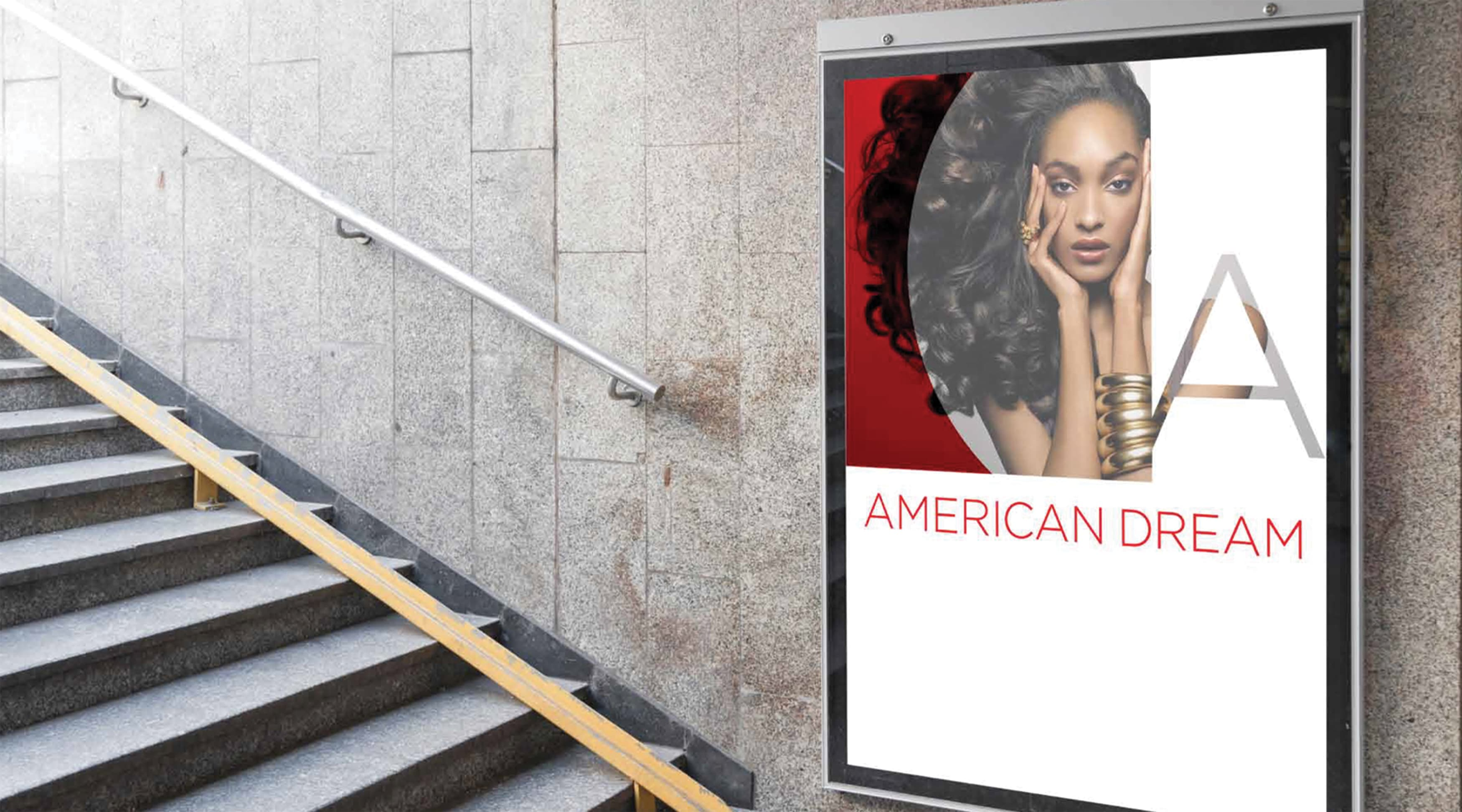 American Dream Retail Project Design in East Rutherford, New Jersey. Branding and Advertising Design.
