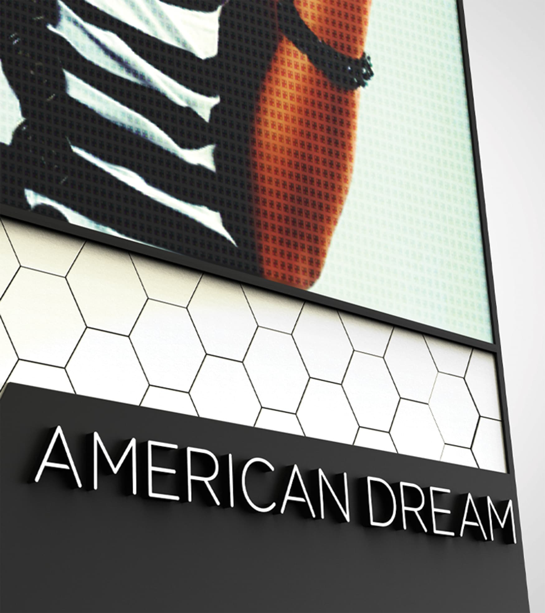 American Dream Retail Project Design in East Rutherford, New Jersey. American Dream highway pylon design detail