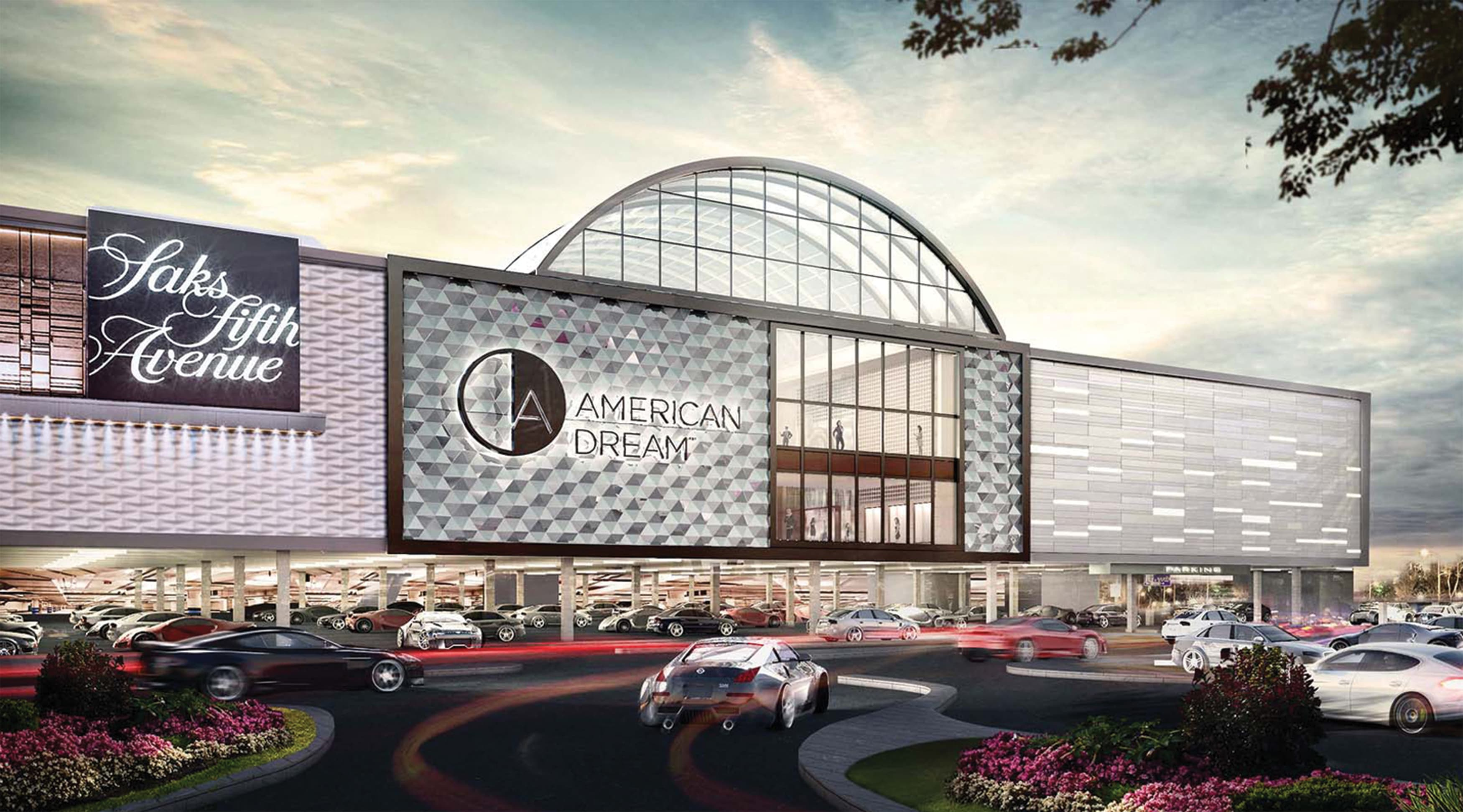 American Dream Retail Project Design in East Rutherford, New Jersey. Architectural Rendering and Architectural Facade Project Identity