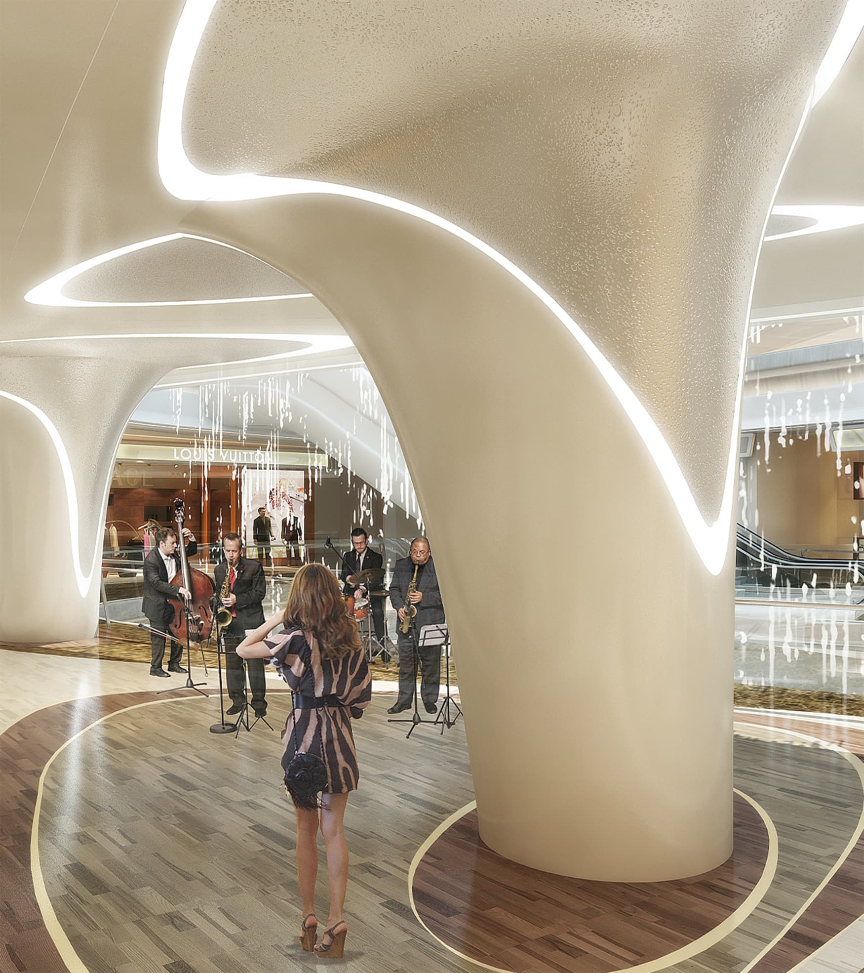 K11, located in Tianjin, China, is a super high-rise complex development.