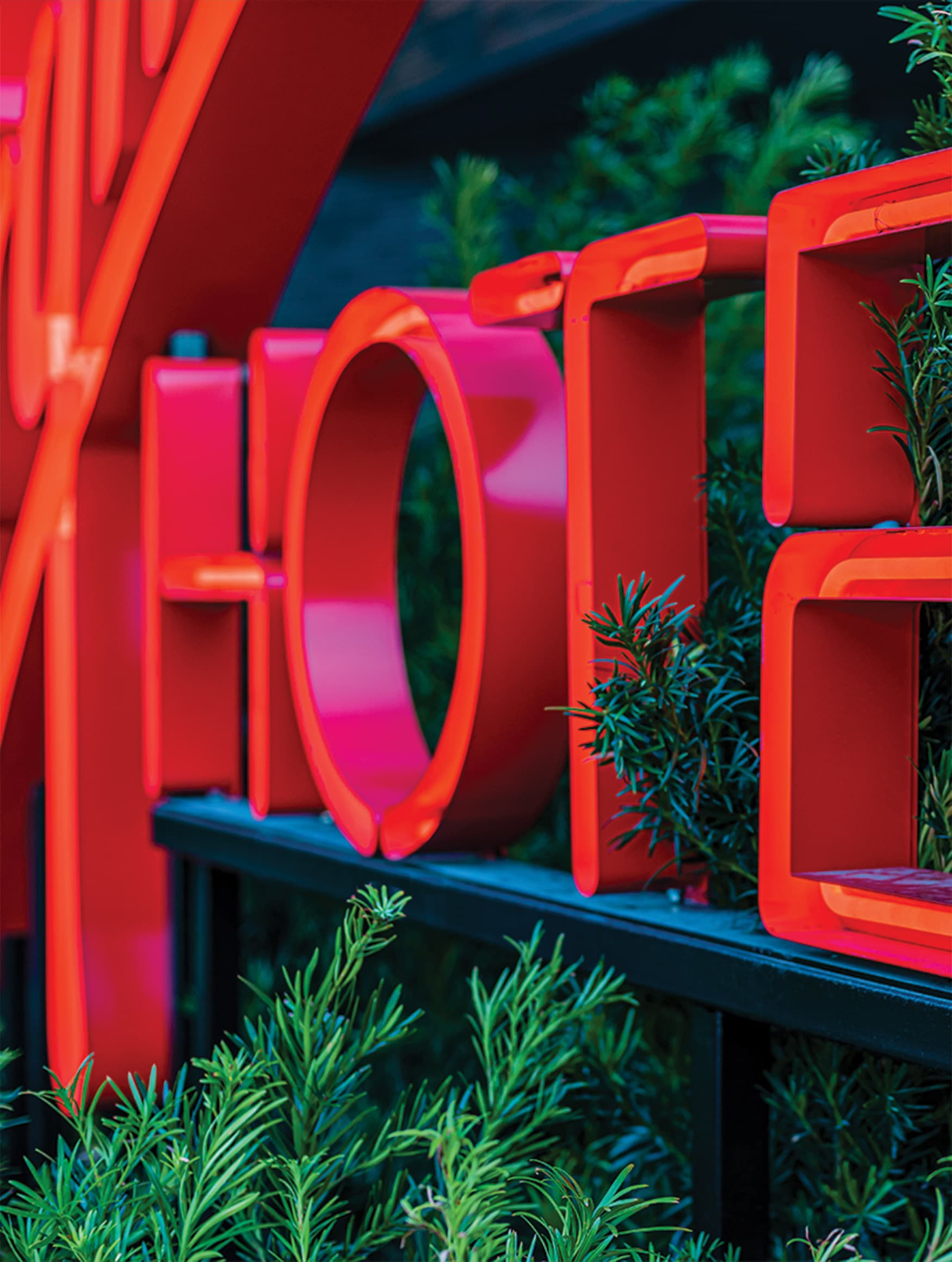 Virgin Hotels Open Face Channel Letter Hospitality Signage