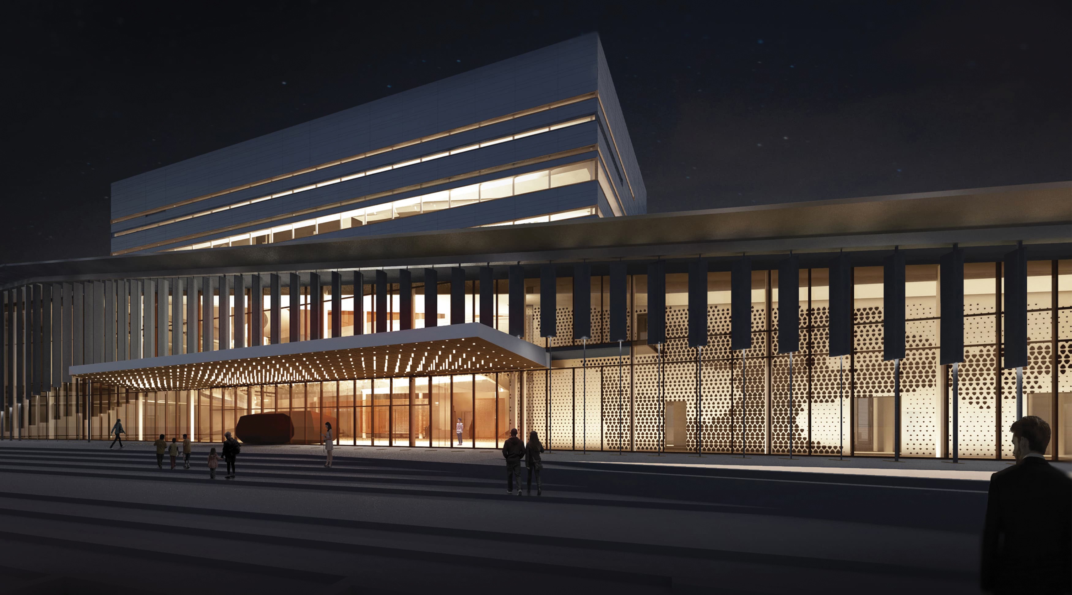 The Buddy Holly Hall of Performing Arts and Sciences, in Lubbock, Texas, architectural rendering