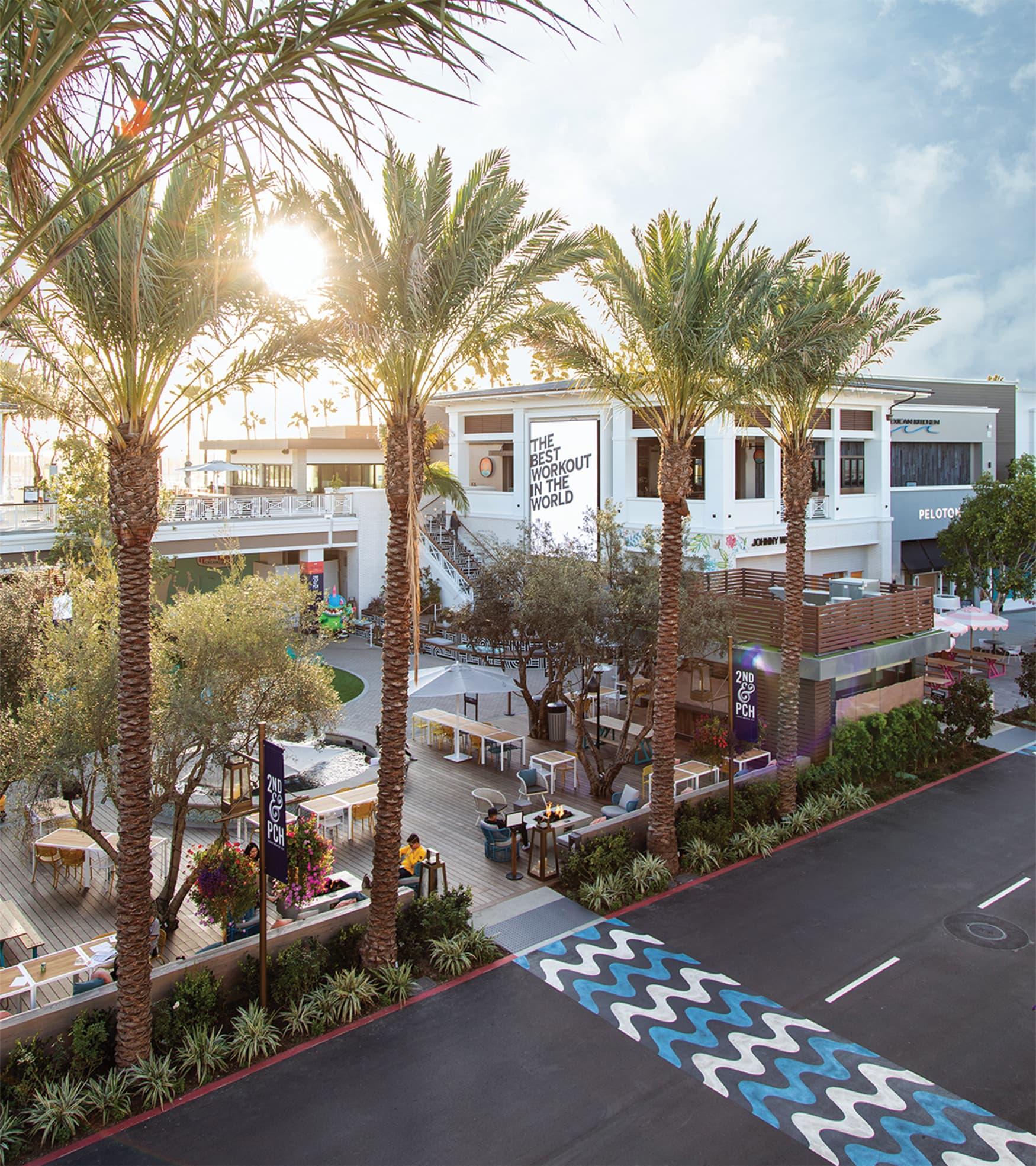 2nd & PCH custom crosswalk design at retail destination
