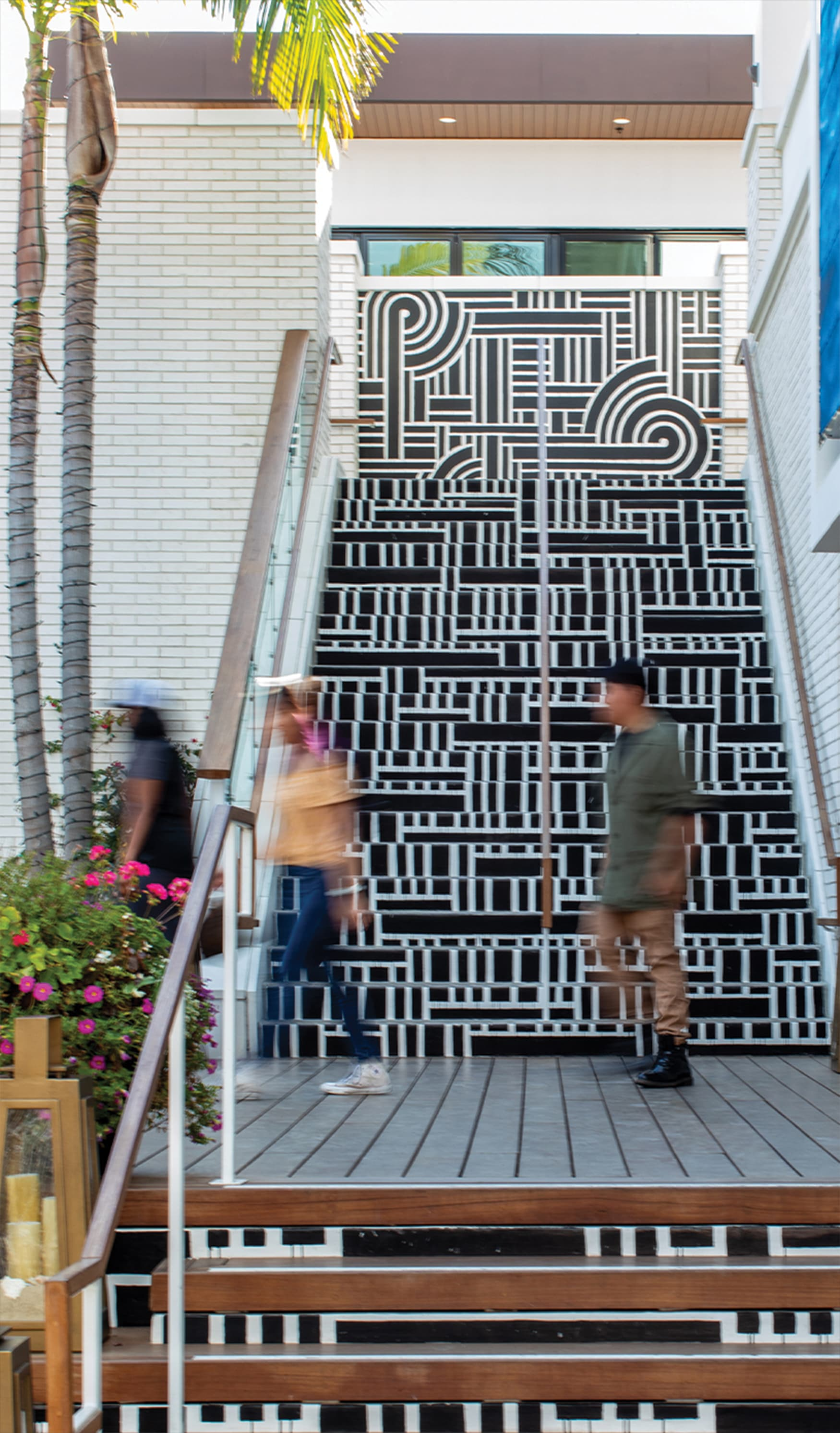 2nd & PCH public art staircase mural