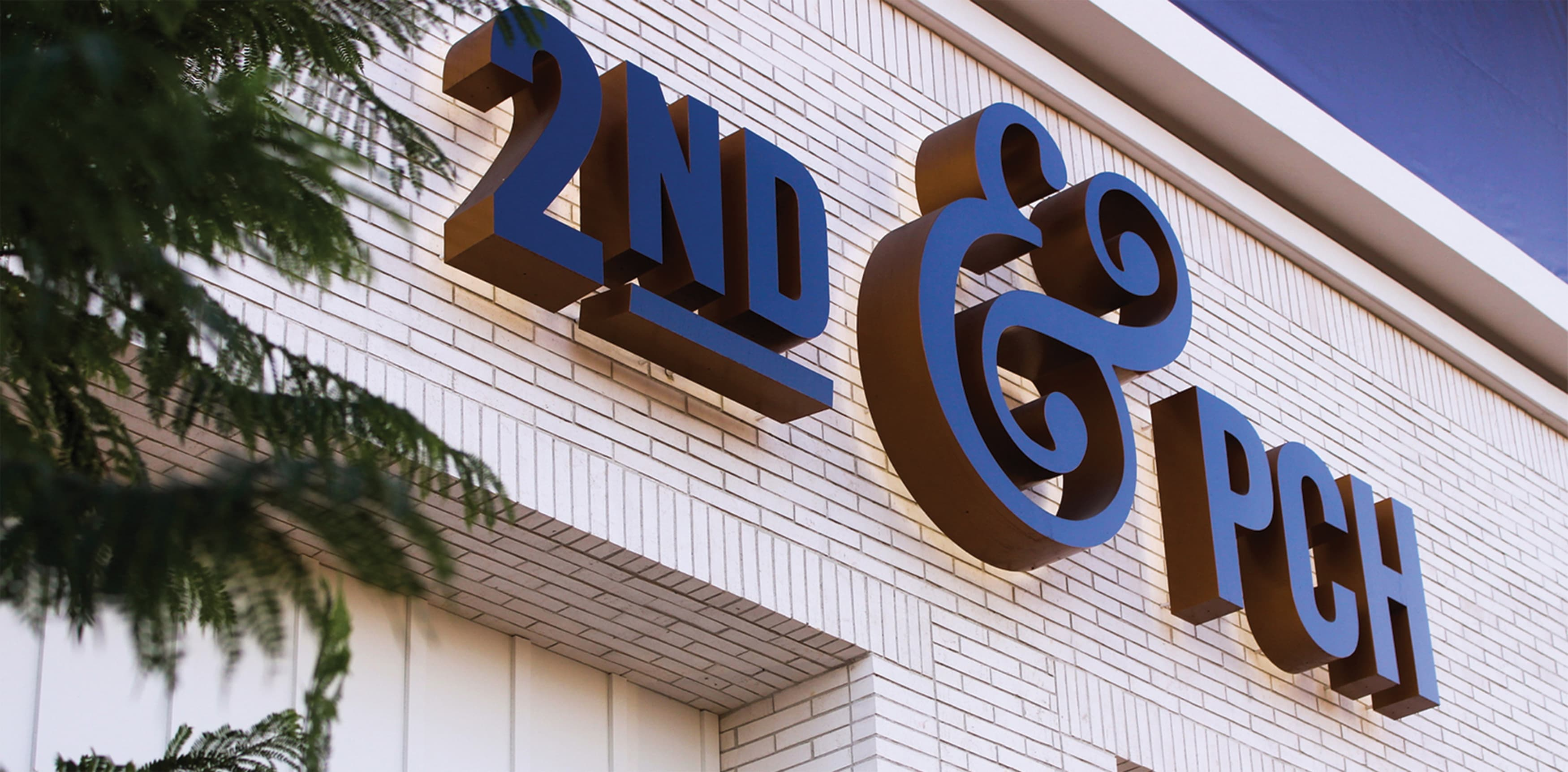 2nd & PCH project identity signage