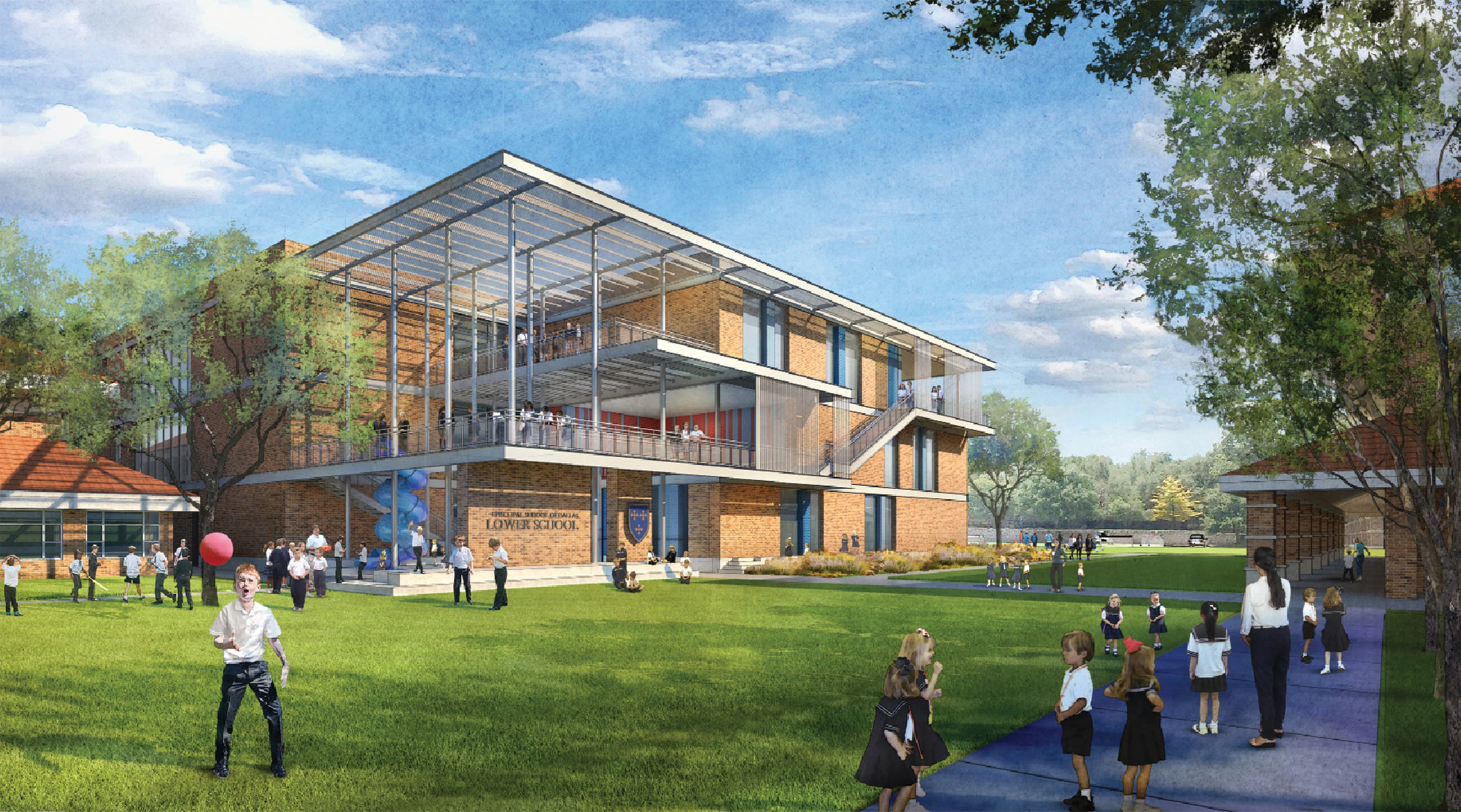 Architectural Rendering for Education Signage Design