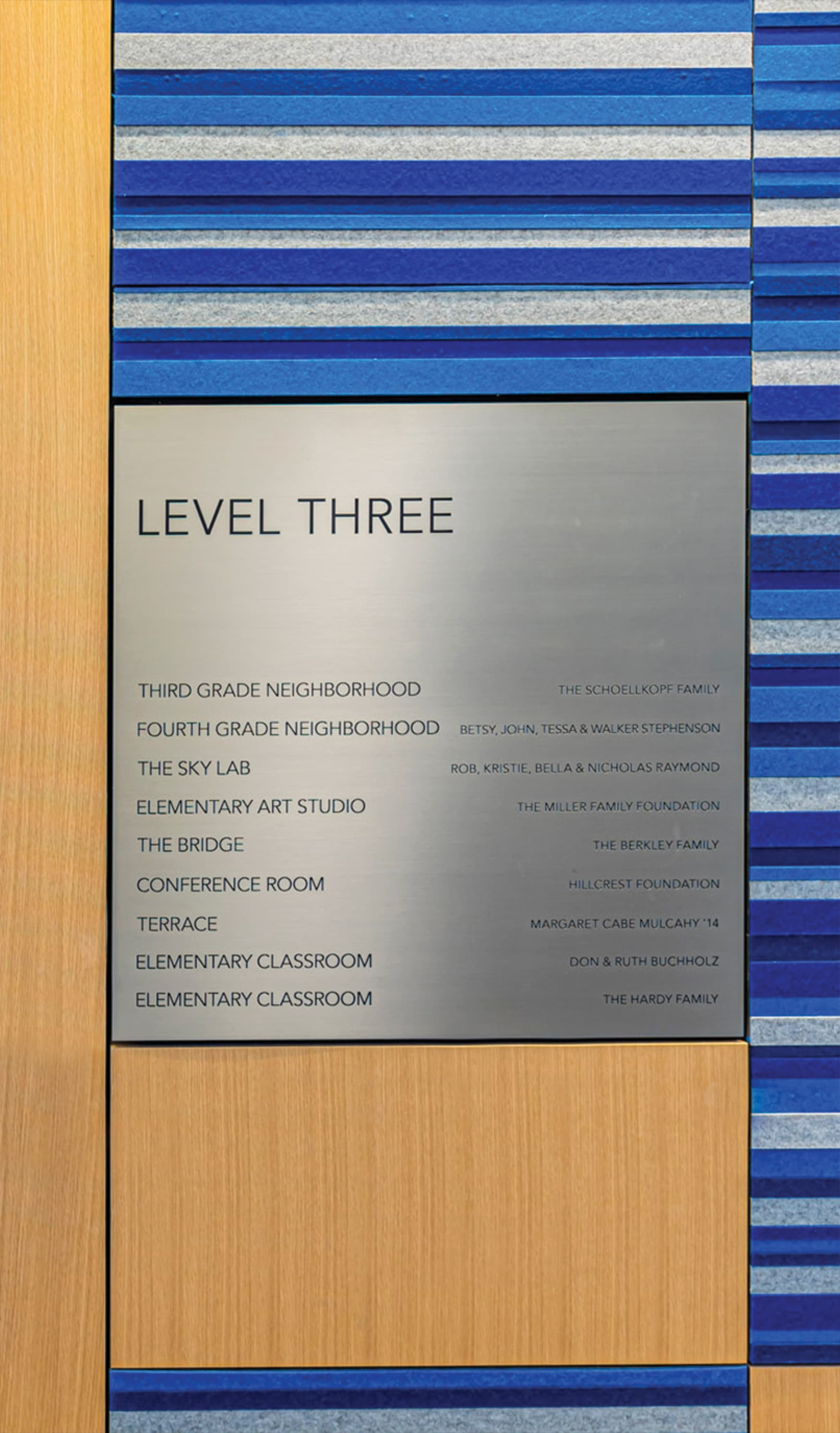 Educational Donor Recognition Signage