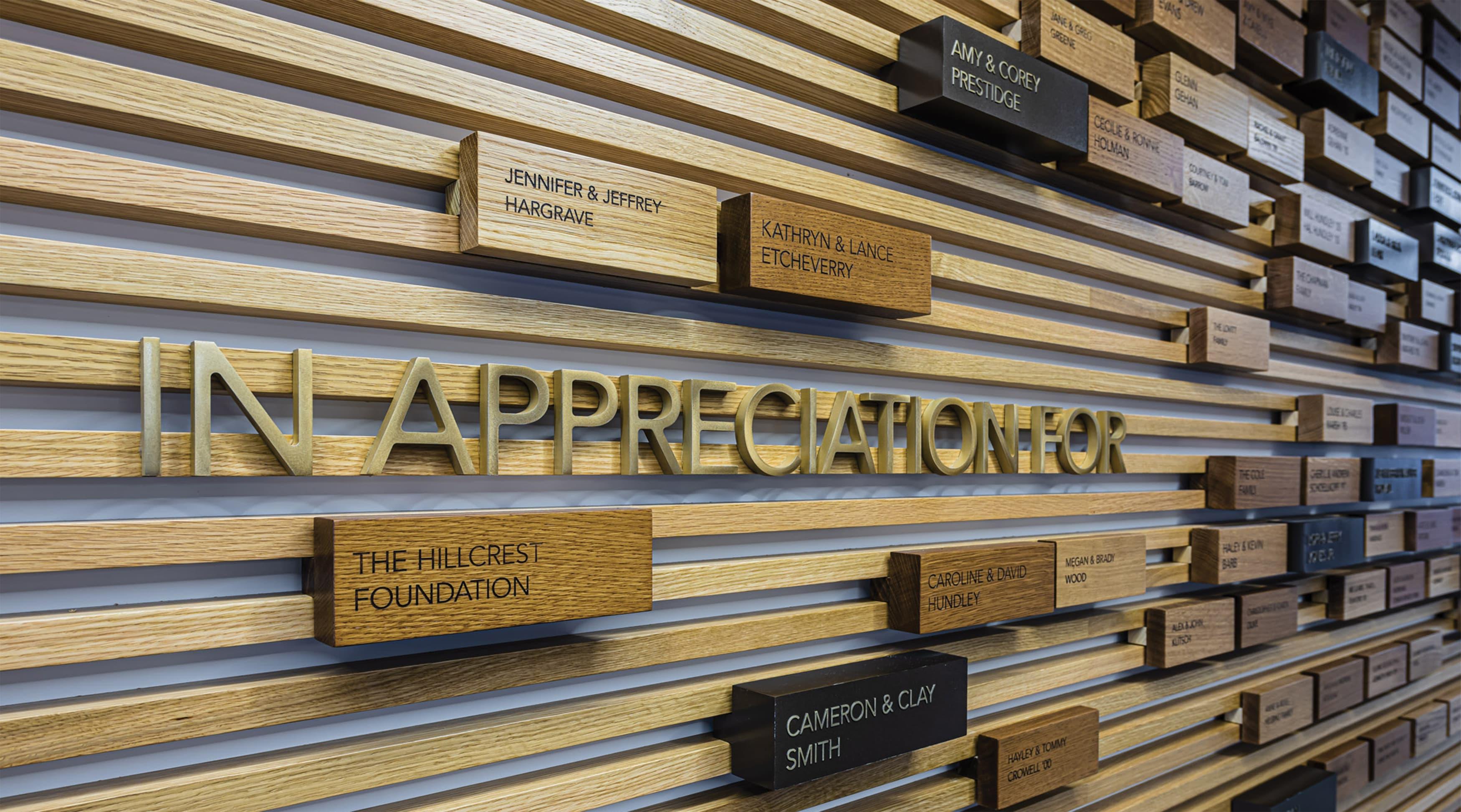 Education Donor Appreciation Signage