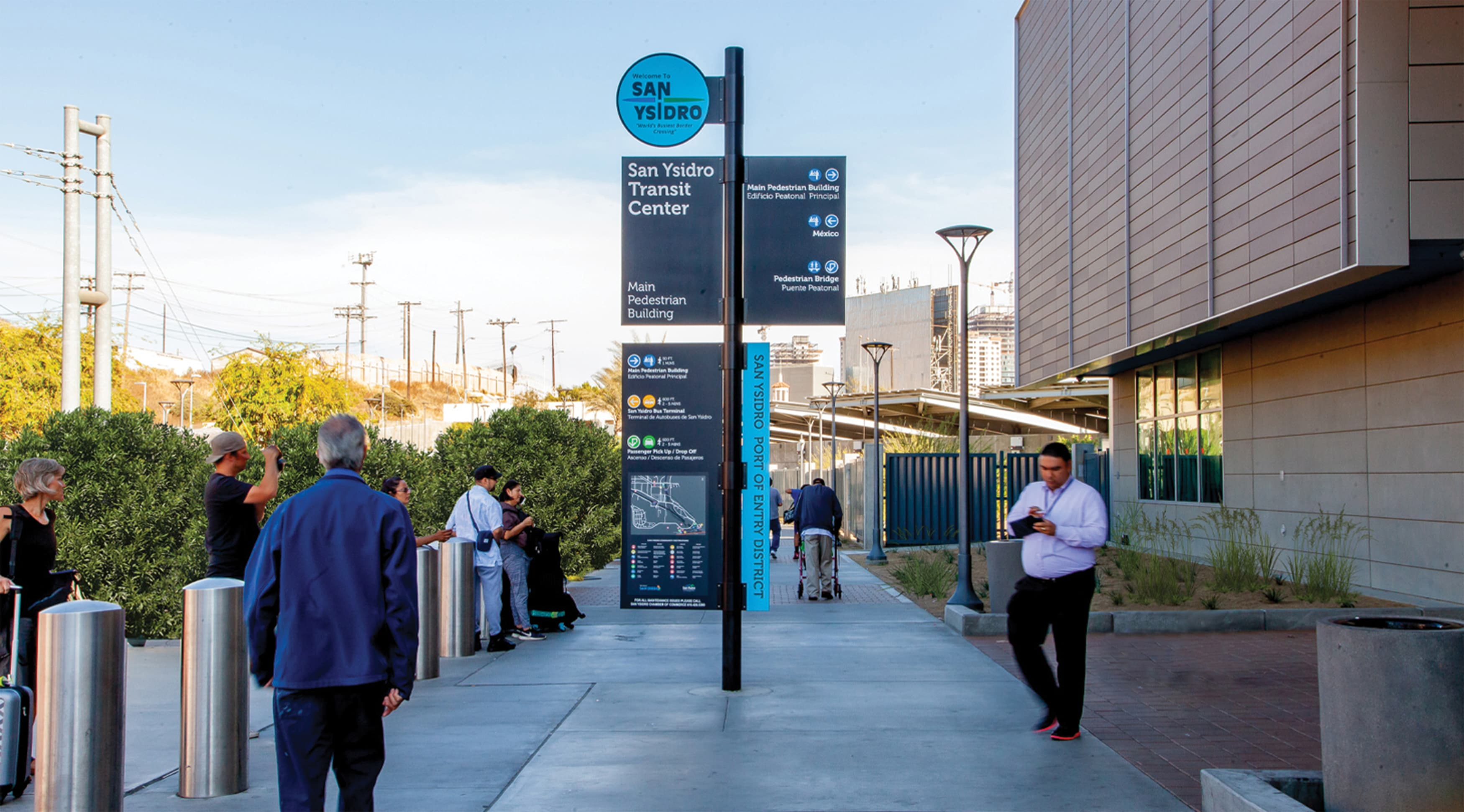 San Ysidro Port of Entry pedestrian wayfinding system and directory map