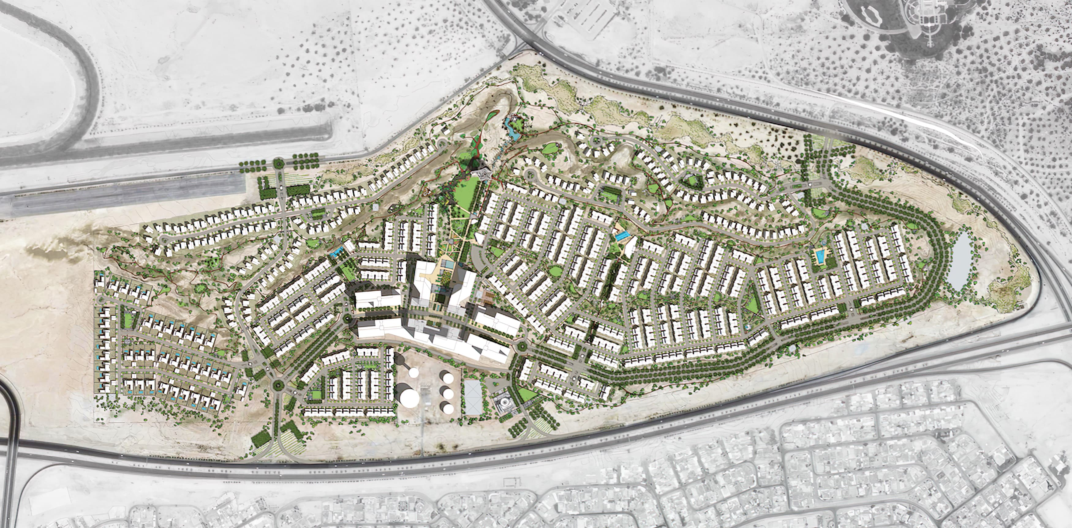 Al Raffah, a residential development in Bahrain. Master Sign Plan.