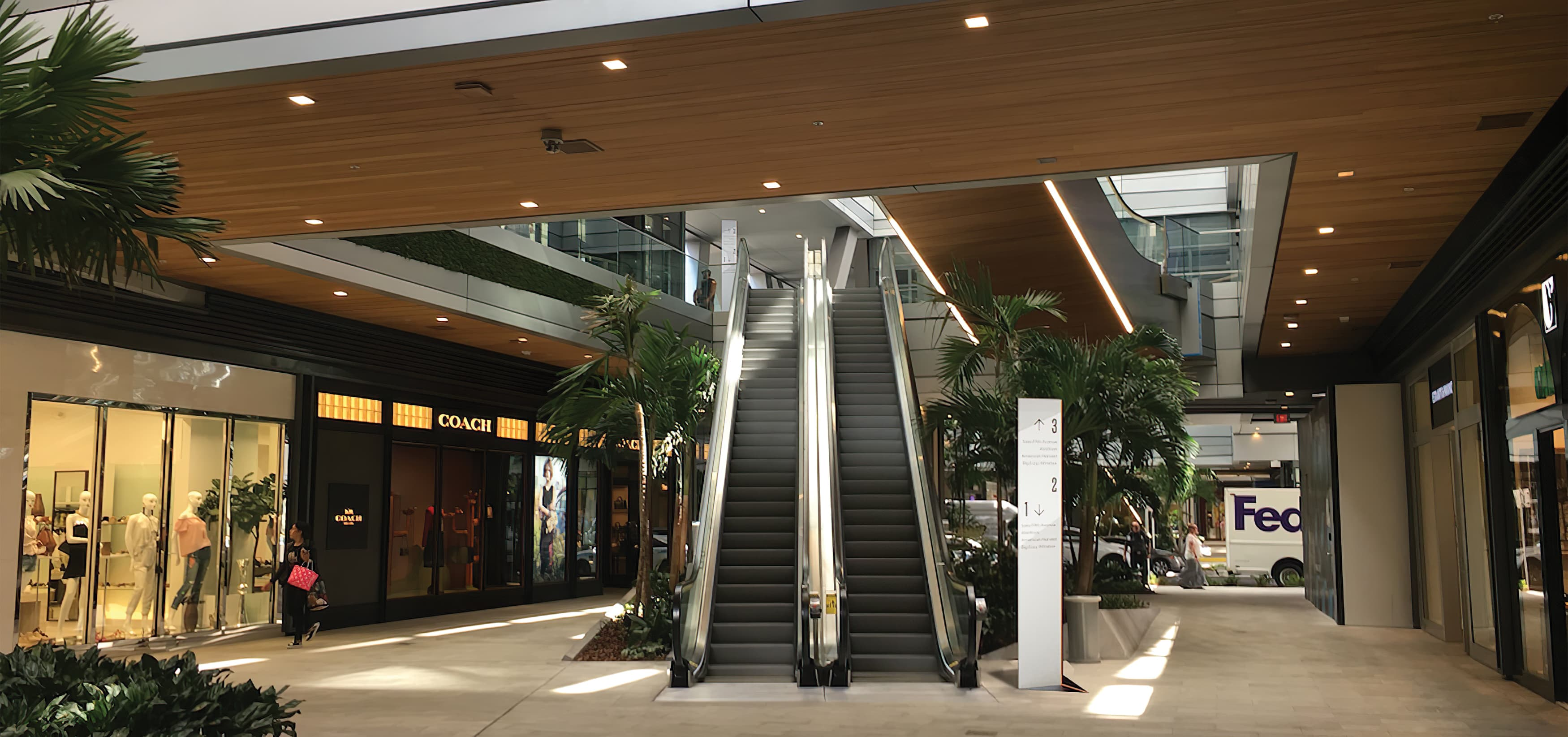 Brickell City Center, a civic, mixed-use, retail project in Miami, Florida. RSM Design. Environmental Graphic Design, Wayfinding Signage.