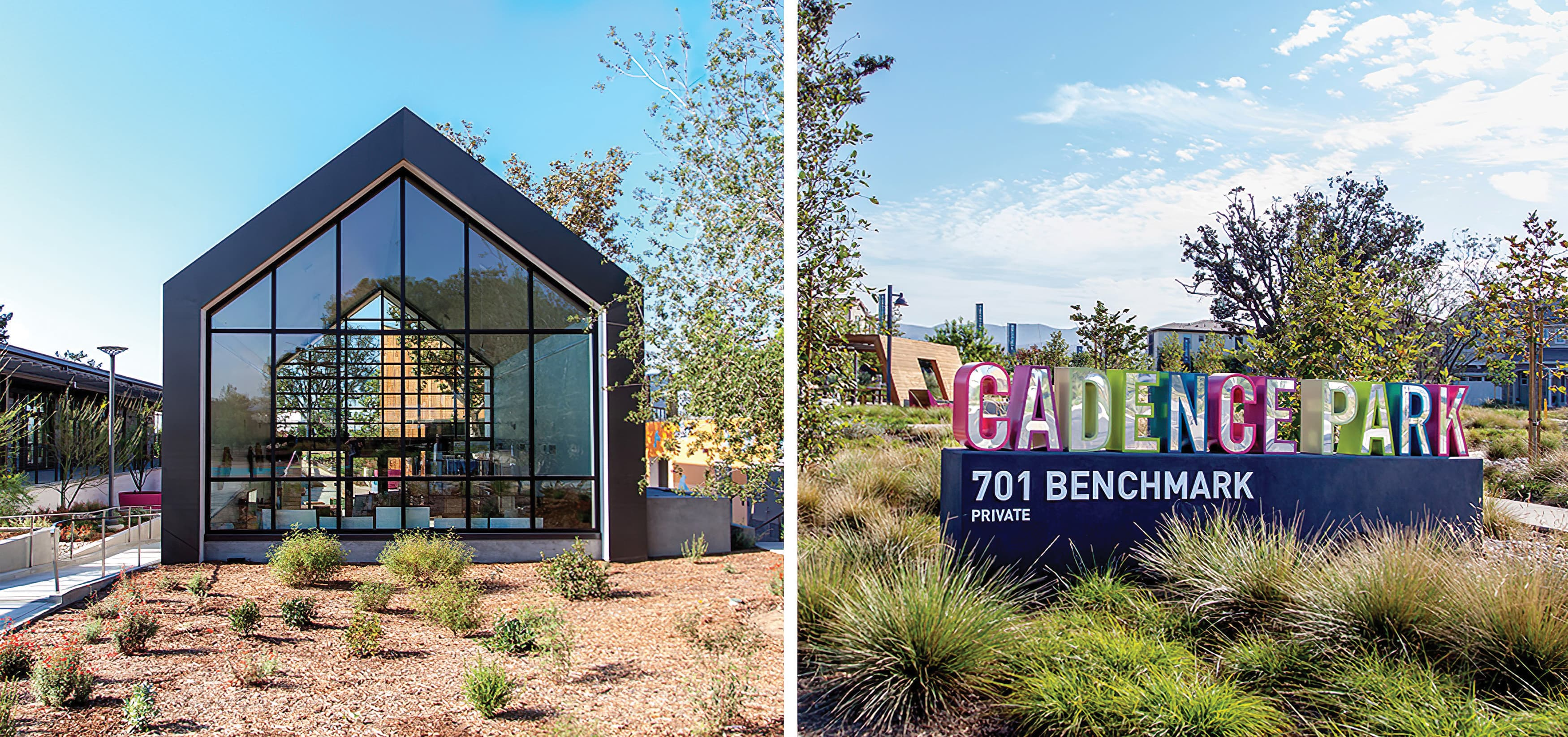 Cadence Park, a park within the Great Park Neighborhood in Irvine, California. RSM Design prepared Wayfinding Signage and Environmental Graphics. Signage Design.