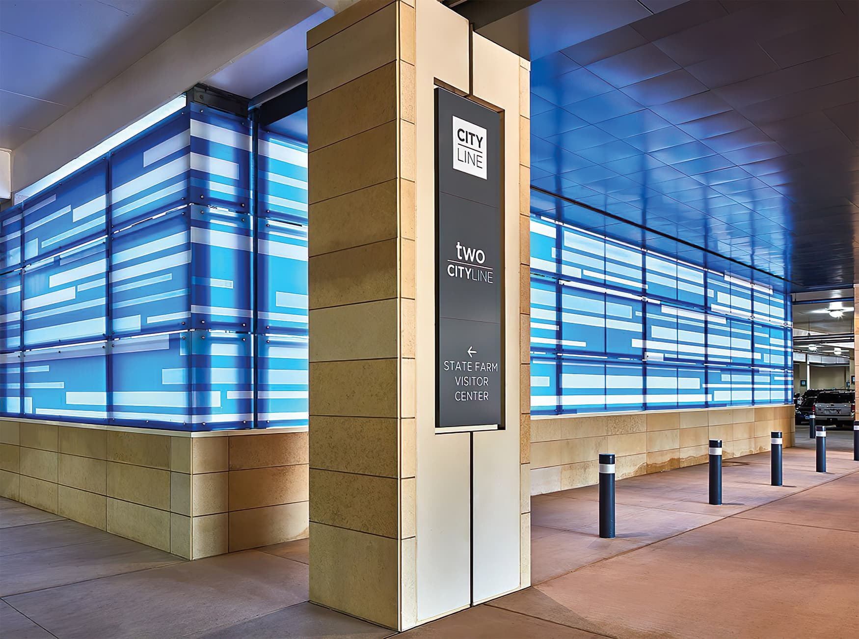 CityLine a mixed-use development in Dallas, Texas. Identity and wayfinding design. Project Identity Signage.