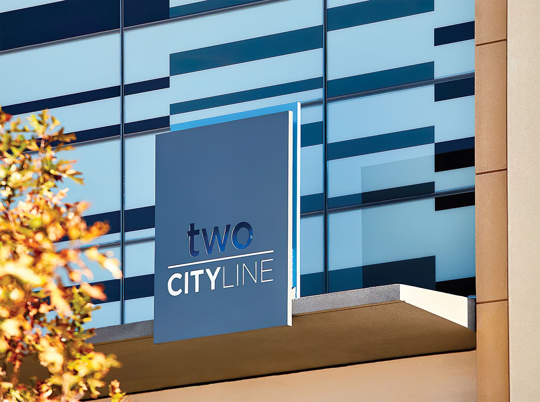 CityLine a mixed-use development in Dallas, Texas. Identity and wayfinding design.