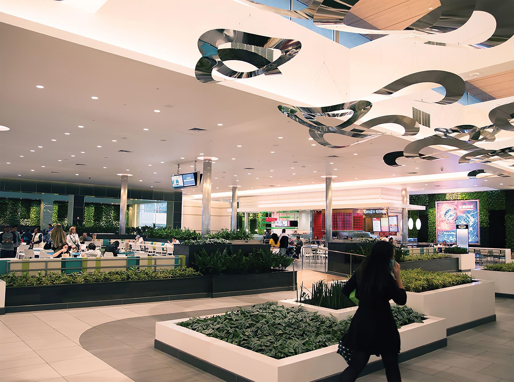 Del Amo Fashion Center located in Torrance, California. Environmental and Architectural graphic design.
