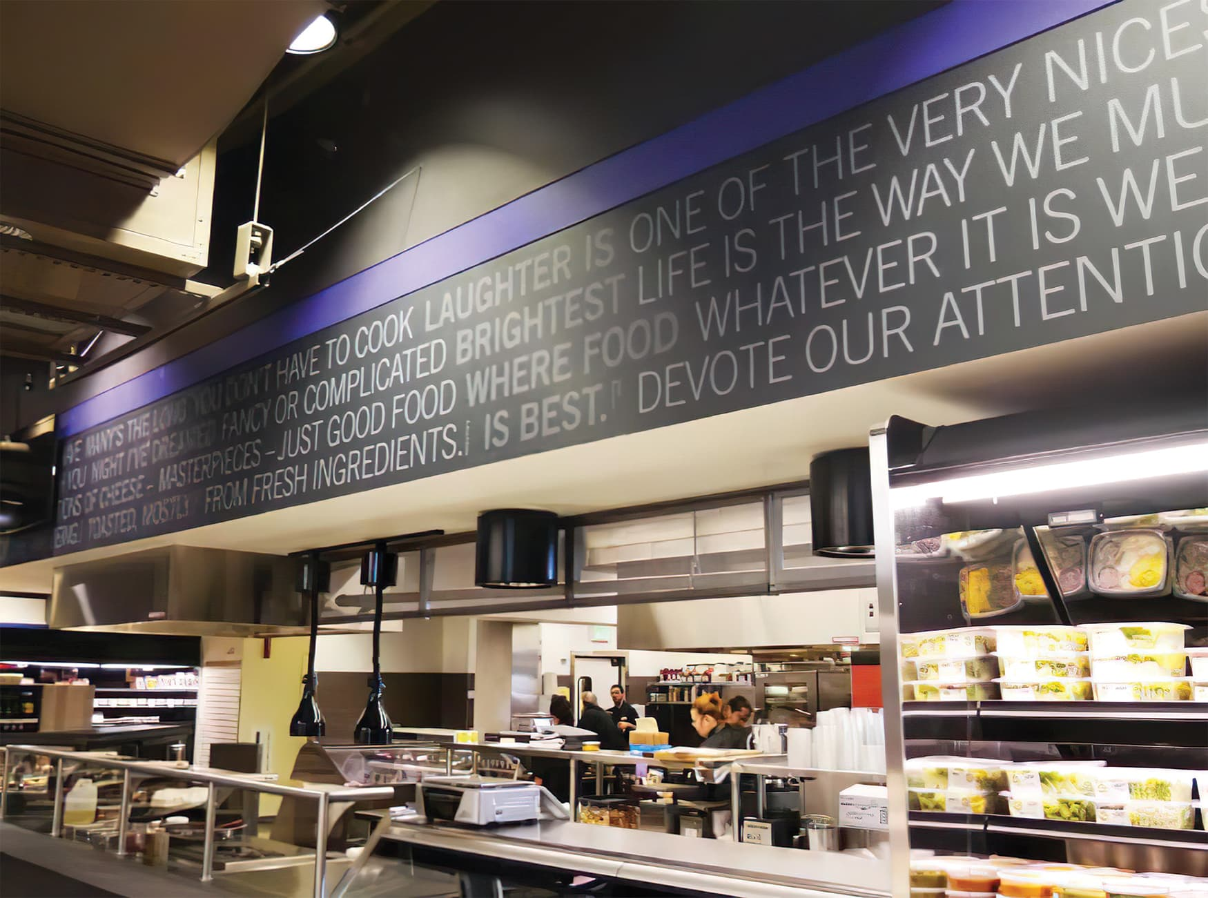 District Market, a student market located by the University of Washington's campus. Environmental Graphics.
